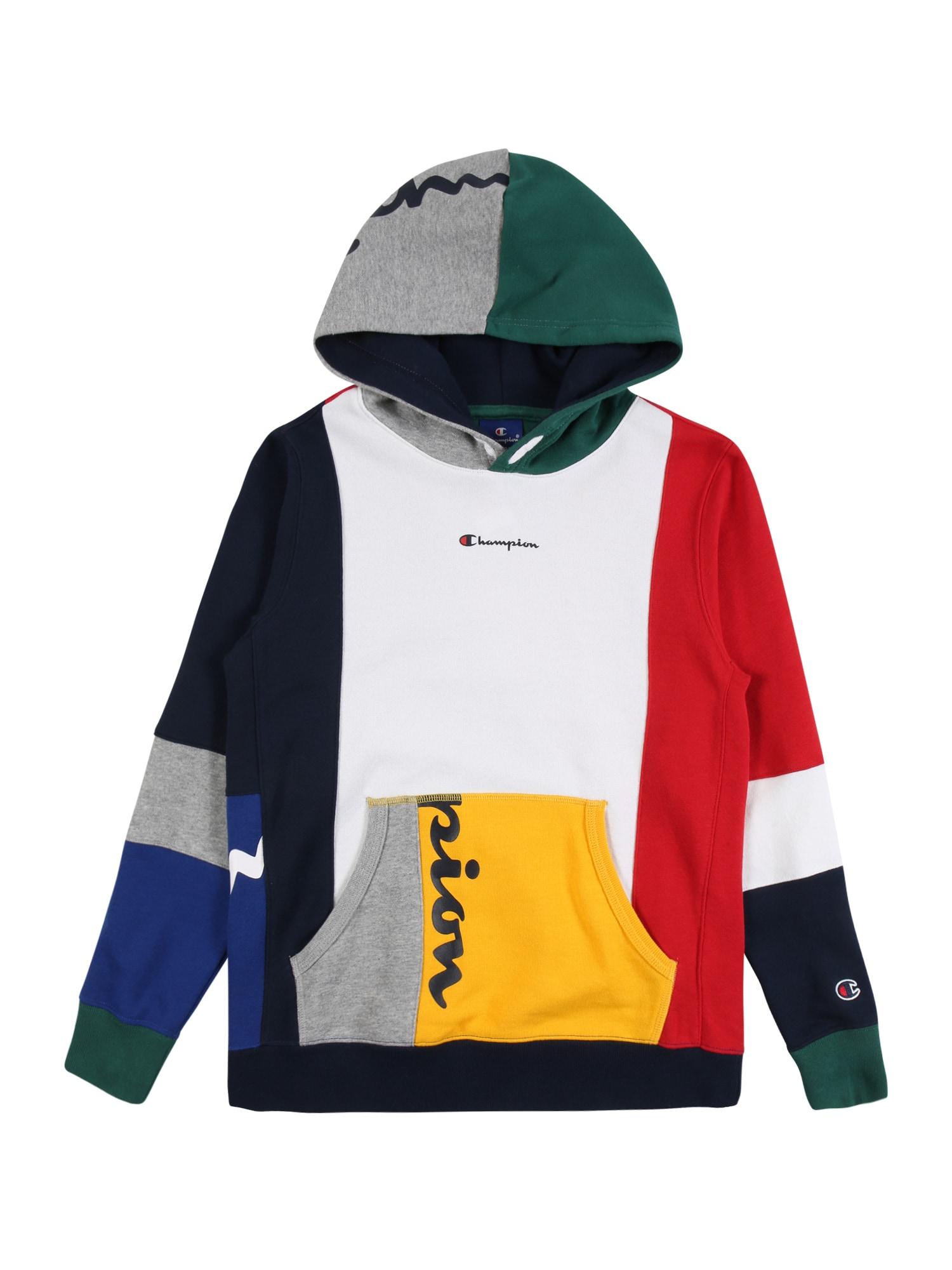 Champion Authentic Athletic Apparel Megztinis be užsegimo raudona / balta / tamsiai mėlyna / žaliosios citrinos spalva / žolės žalia