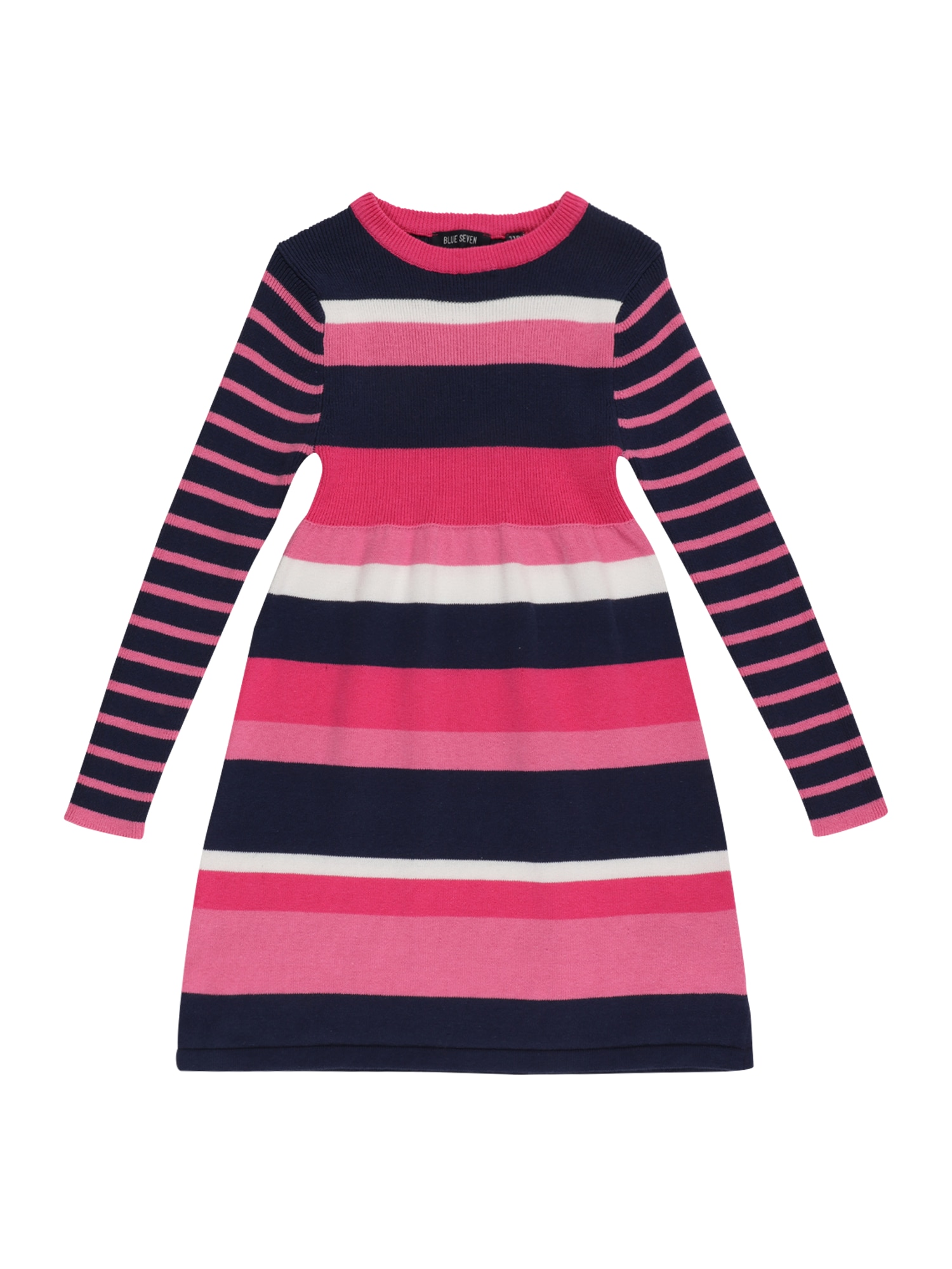 BLUE SEVEN Šaty  pink / noční modrá / bílá / světle růžová