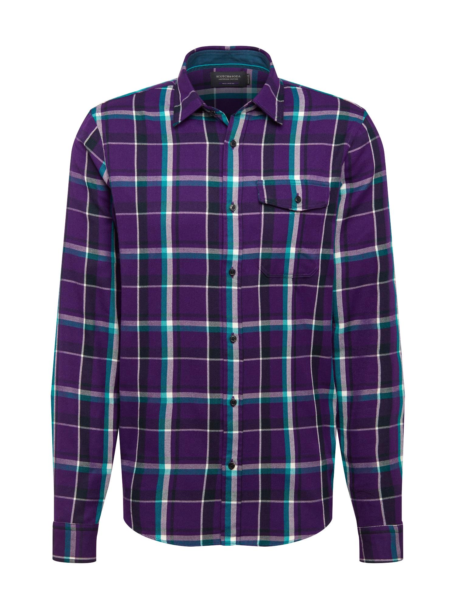 SCOTCH & SODA Košile  tmavě fialová / pastelová fialová / bílá / nefritová