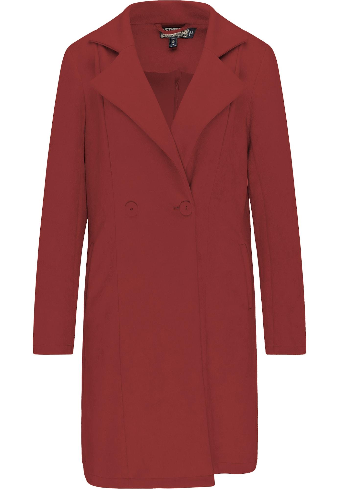 DreiMaster Vintage Demisezoninis paltas tamsiai raudona