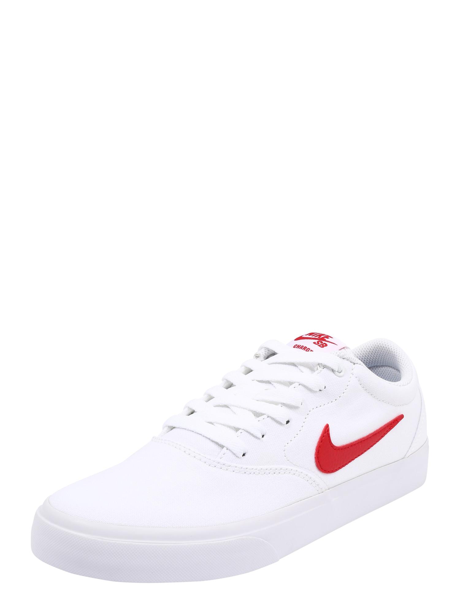 Nike SB Sportovní boty 'Charge'  červená / bílá