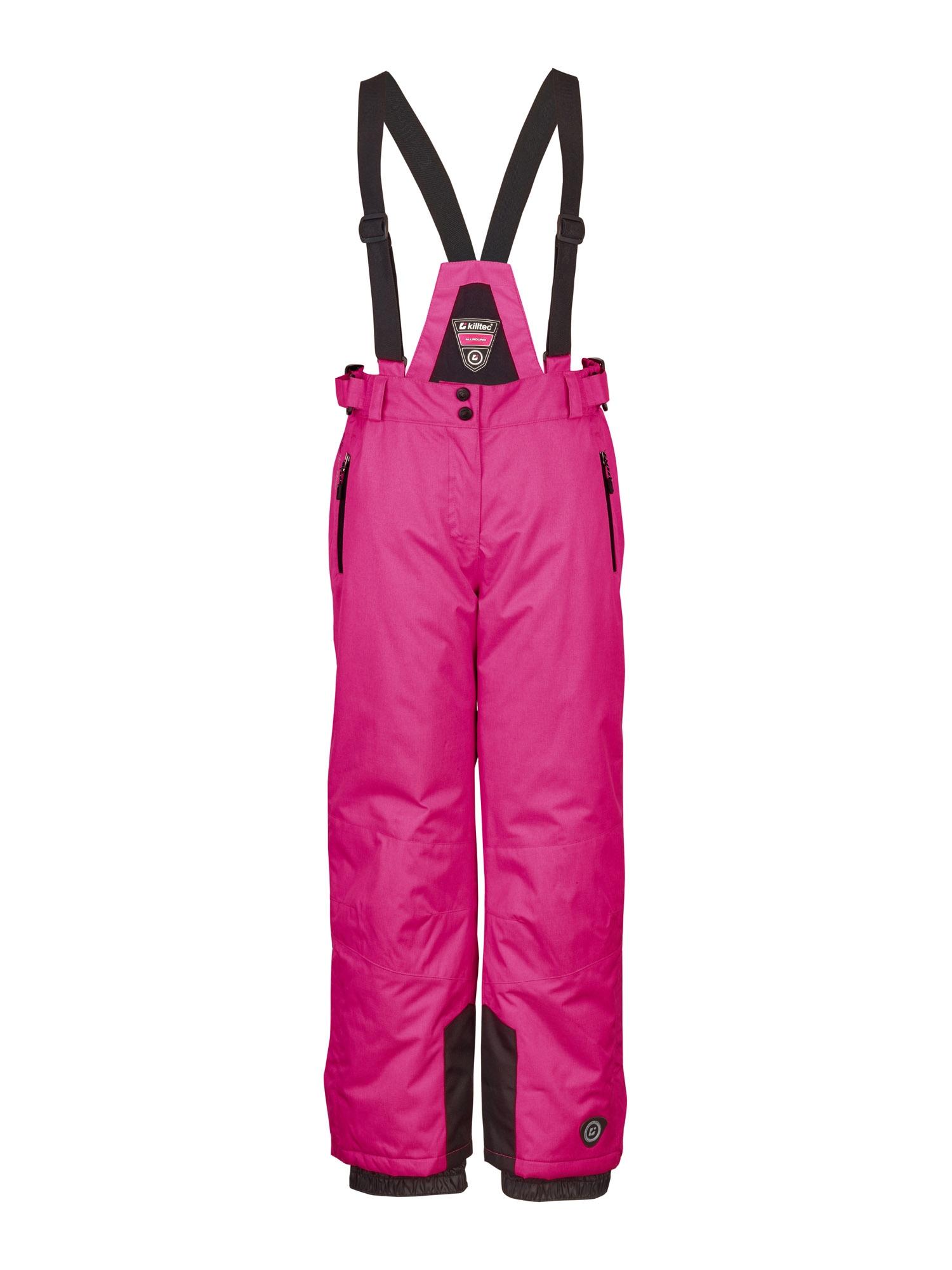 KILLTEC Outdoorové kalhoty 'Nadiana'  černá / fuchsiová