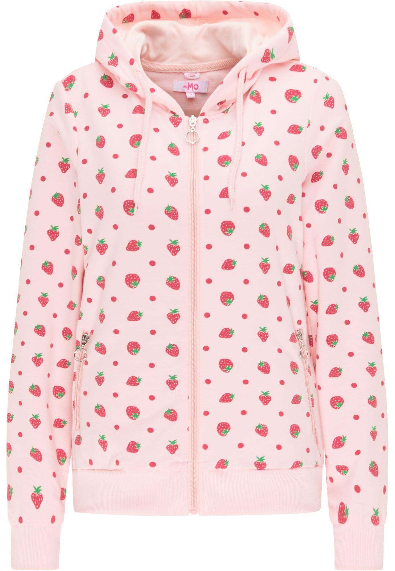 MYMO Džemperis rožinė / raudona / žalia