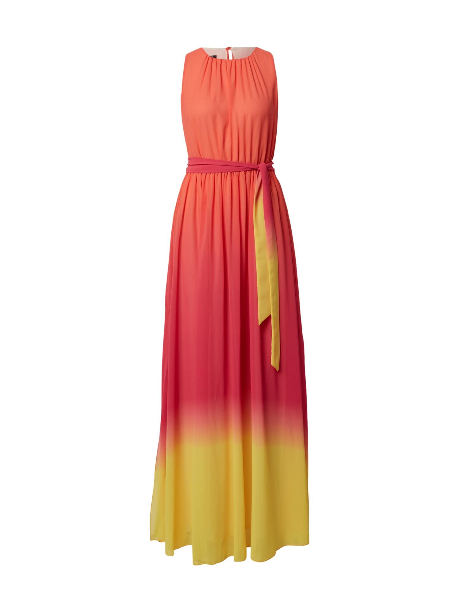 APART Vakarinė suknelė geltona / oranžinė-raudona / rožinė