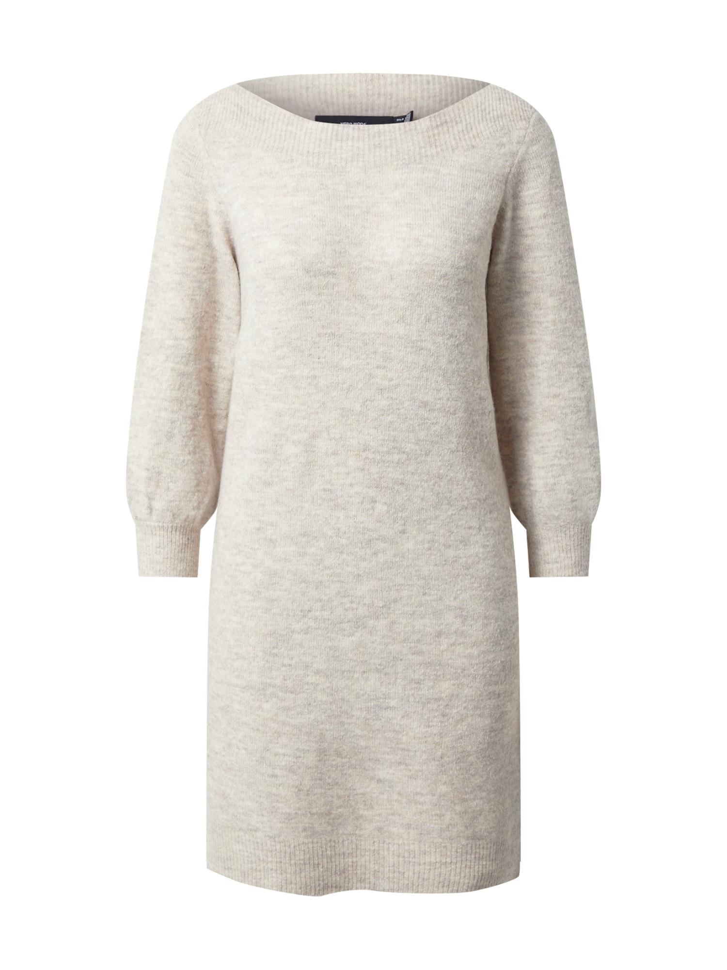 VERO MODA Úpletové šaty 'LEFILE'  béžový melír