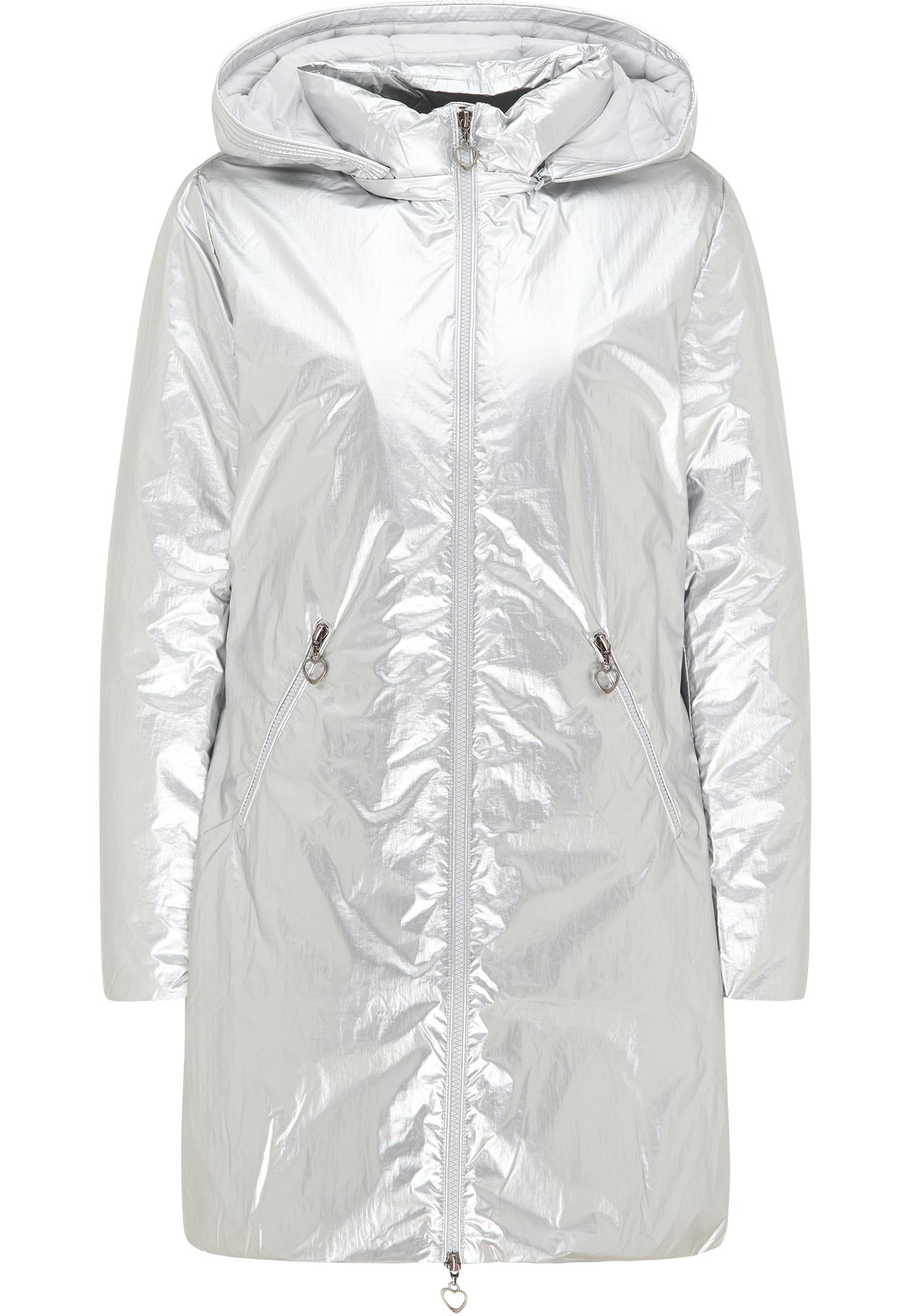 MYMO Žieminis paltas sidabrinė