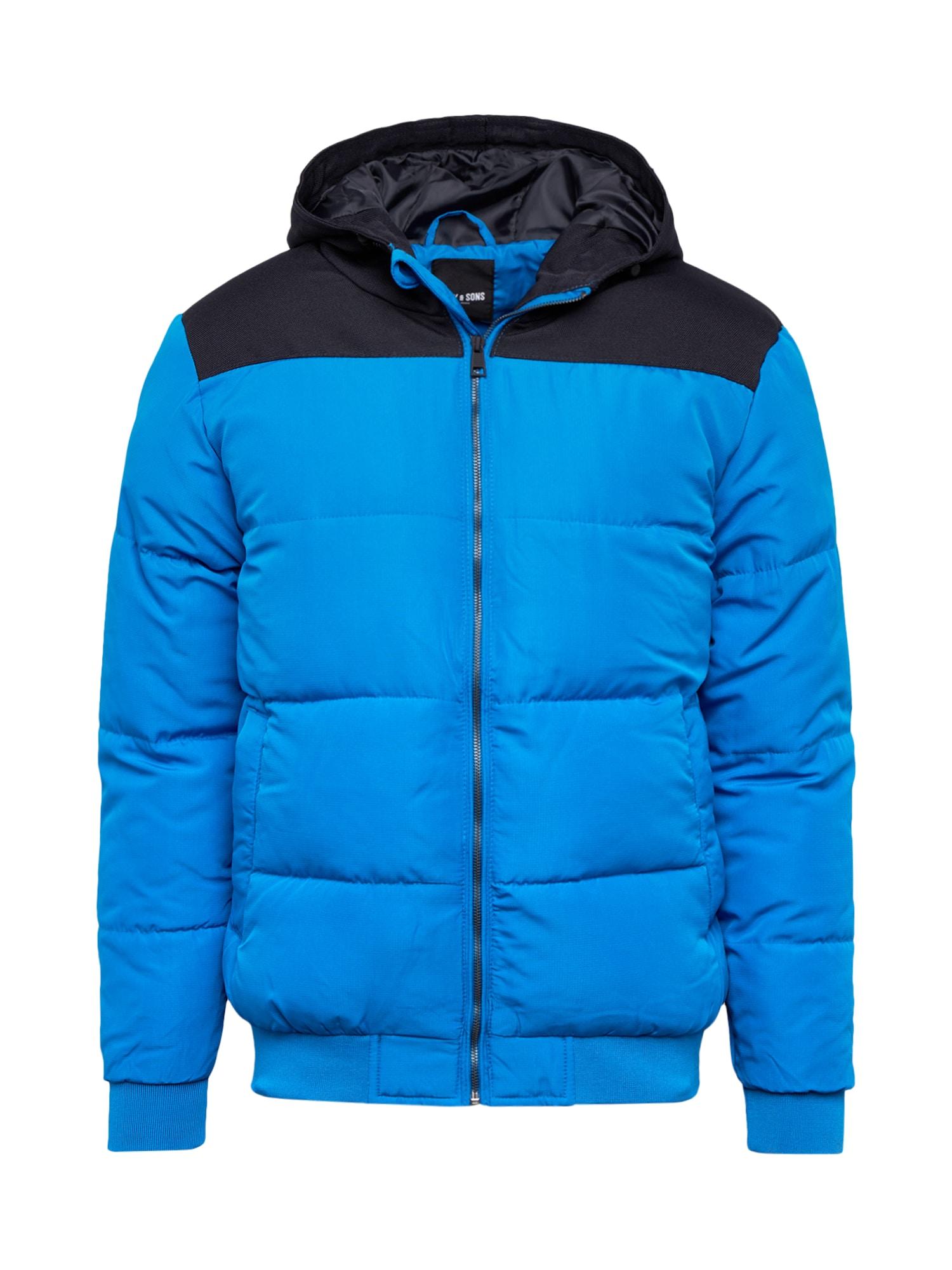 Only & Sons Zimní bunda 'BOSTON'  nebeská modř / noční modrá