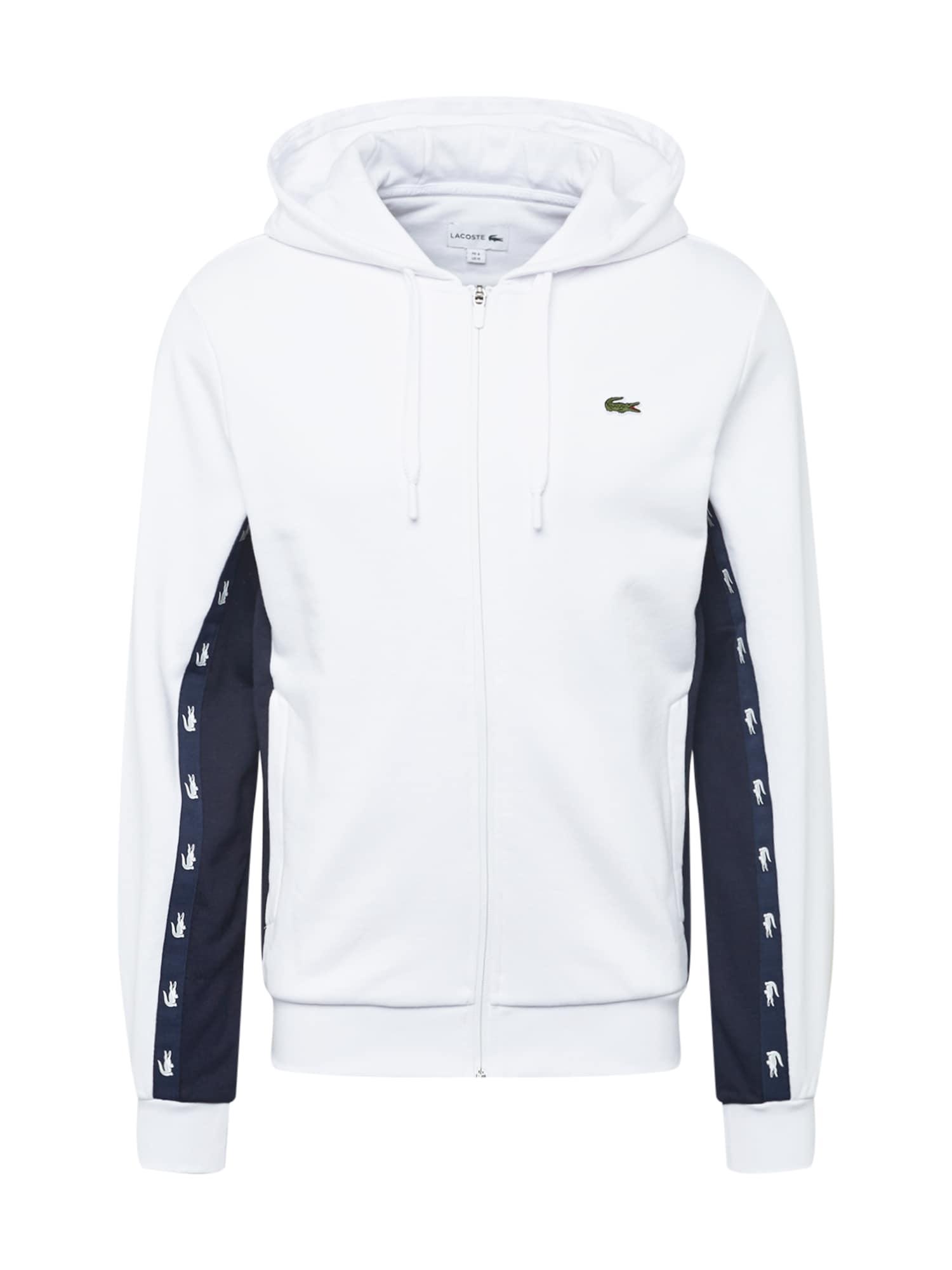 LACOSTE Džemperis balta / juoda / žalia
