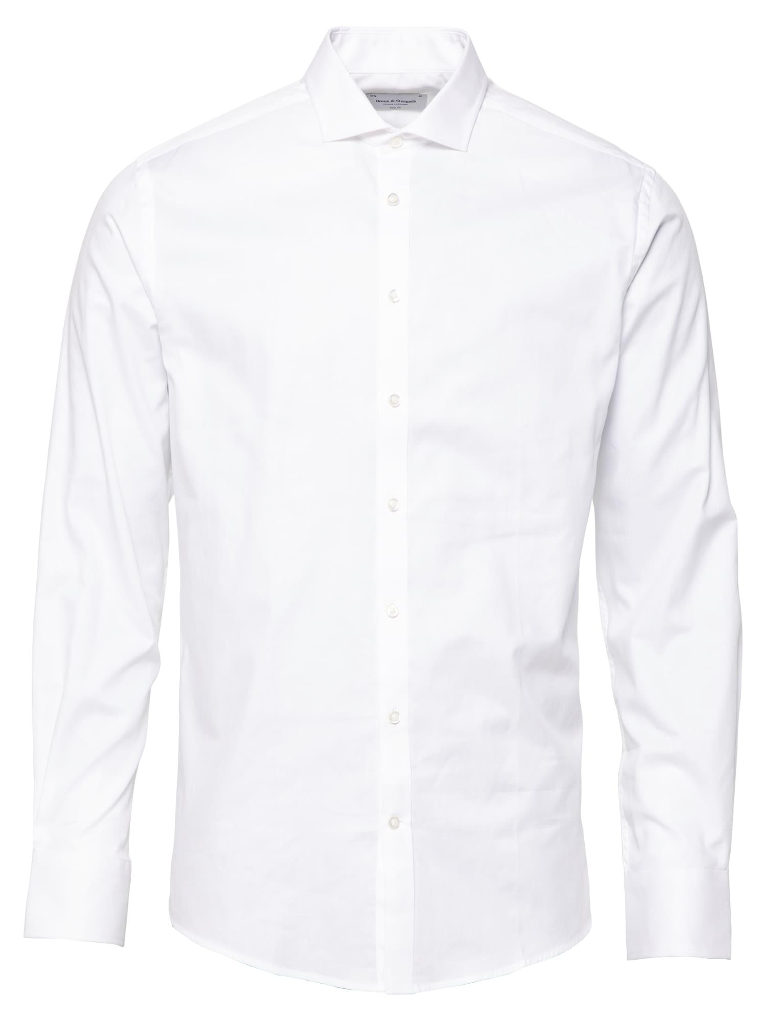 Bruun & Stengade Dalykinio stiliaus marškiniai balta