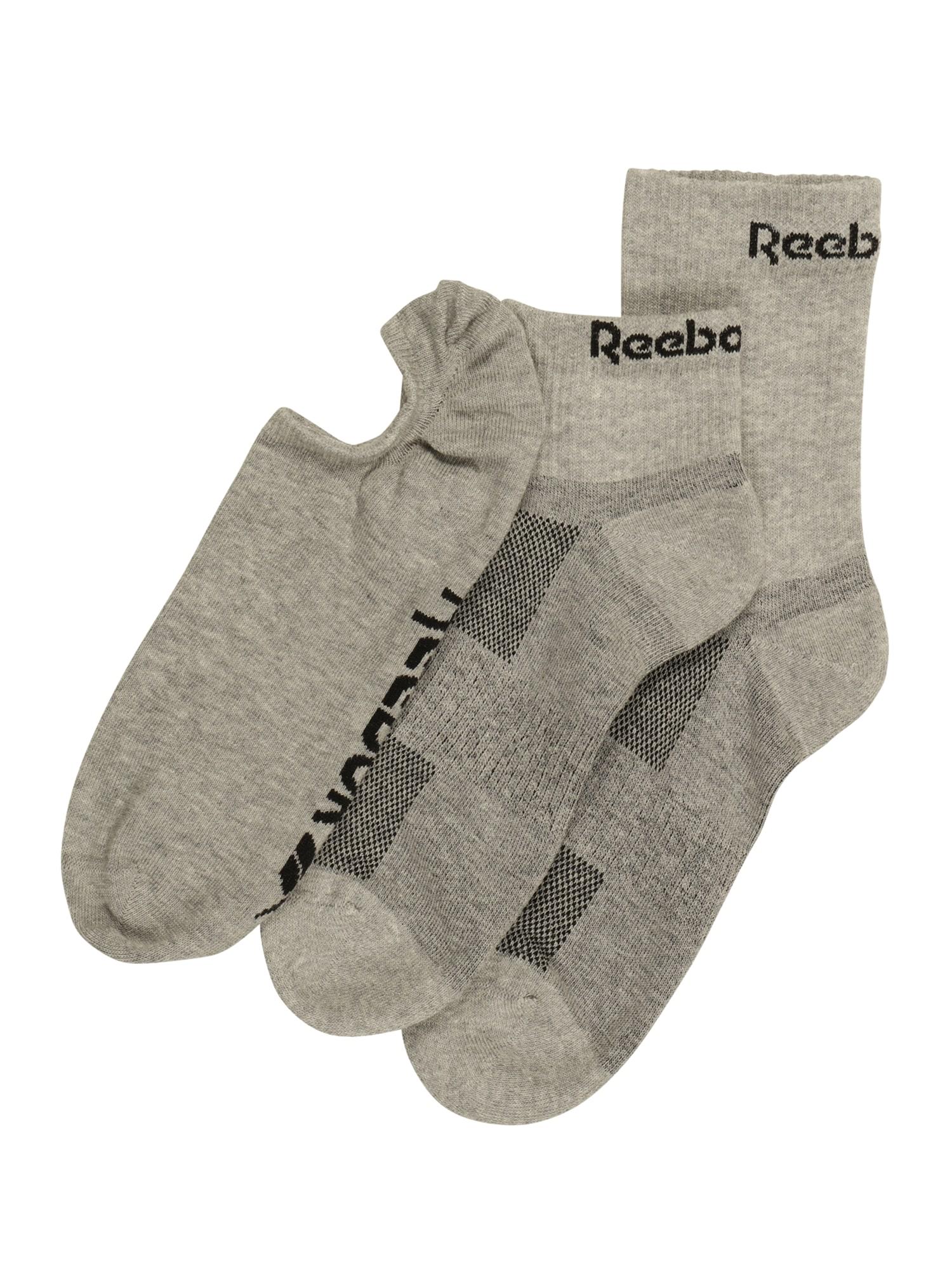 REEBOK Sportinės kojinės 'TE ALL PURPOSE SOCK' pilka