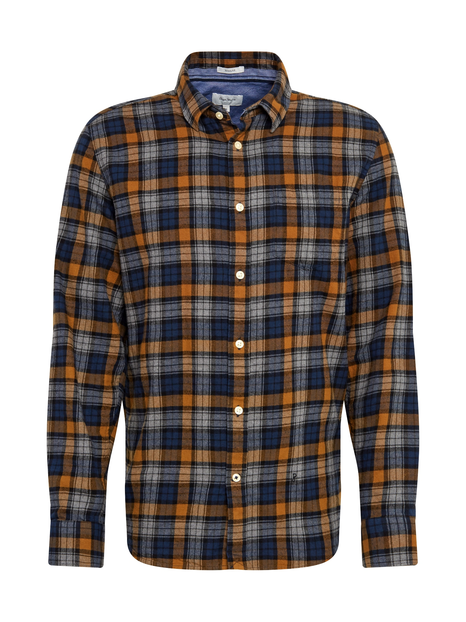 Pepe Jeans Košile 'Telford'  hnědá / modrá