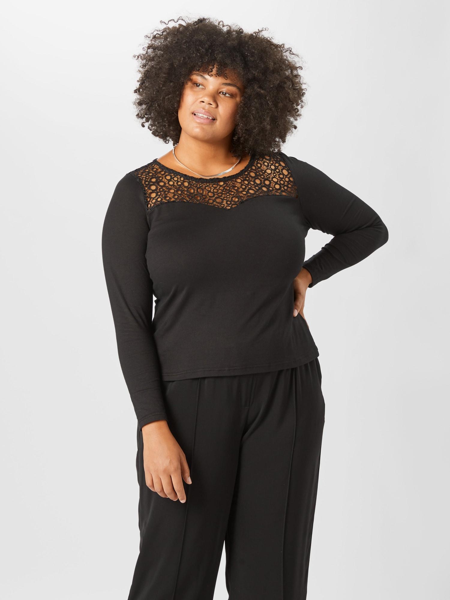 ABOUT YOU Curvy T-shirt 'Elmira'  svart