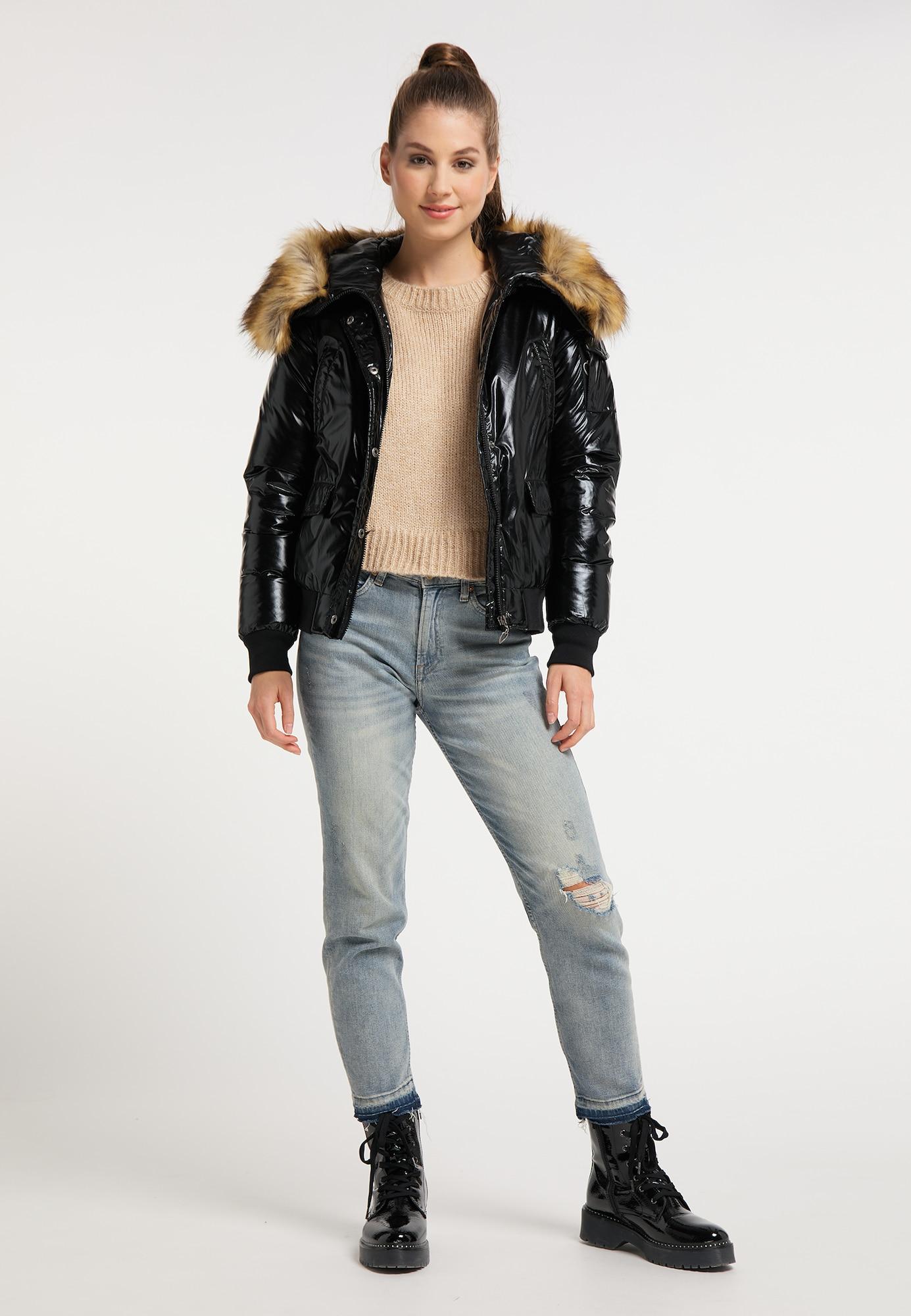 MYMO Zimná bunda  čierna.