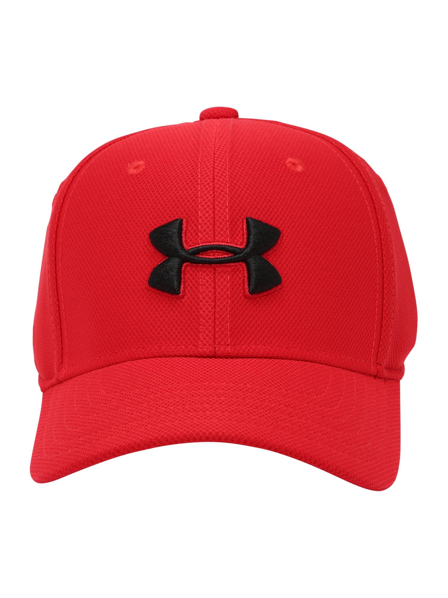 UNDER ARMOUR Sportinė kepurė 'Blitzing 3.0' raudona / juoda
