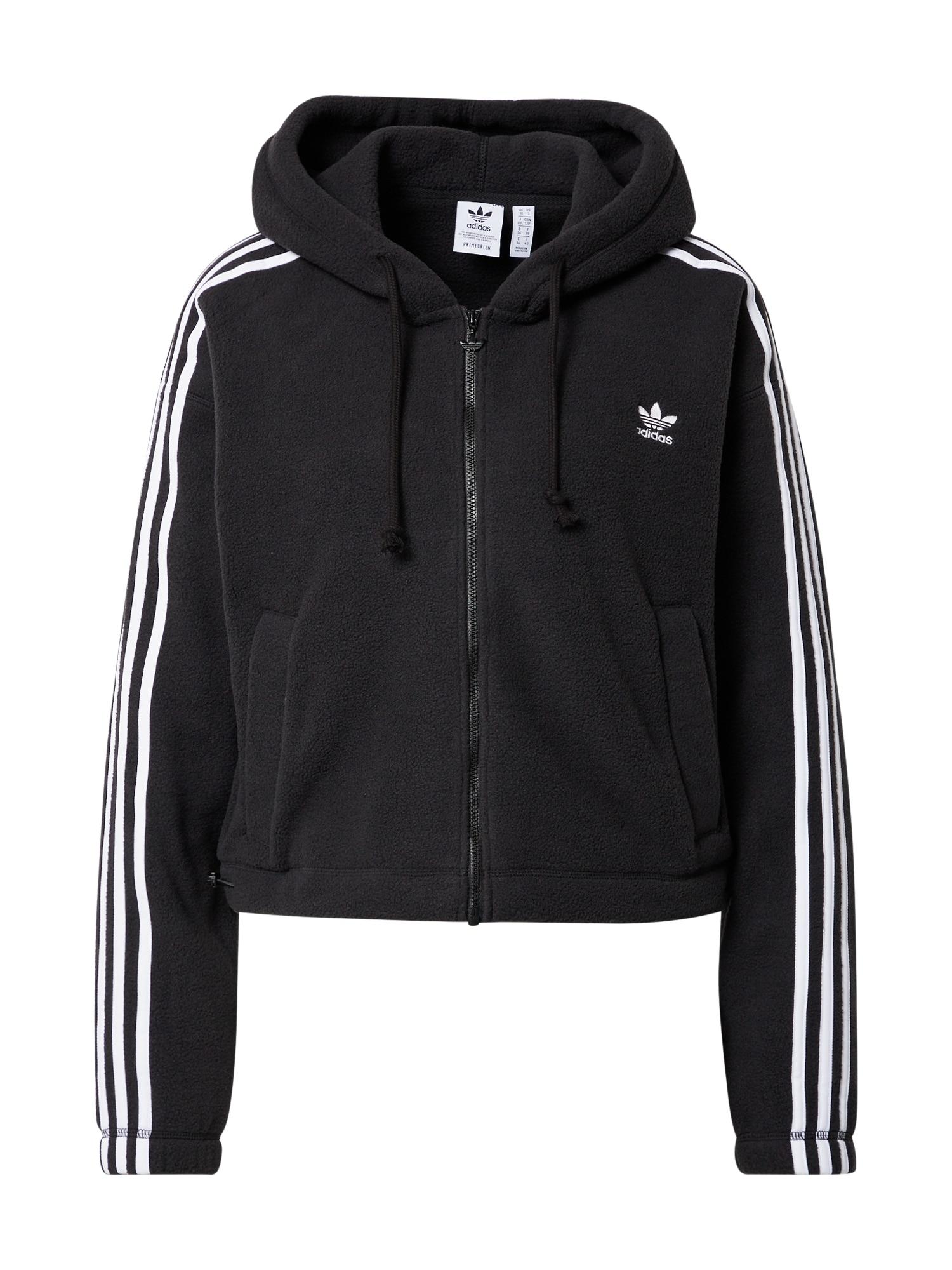 ADIDAS ORIGINALS Flisinis džemperis juoda / balta