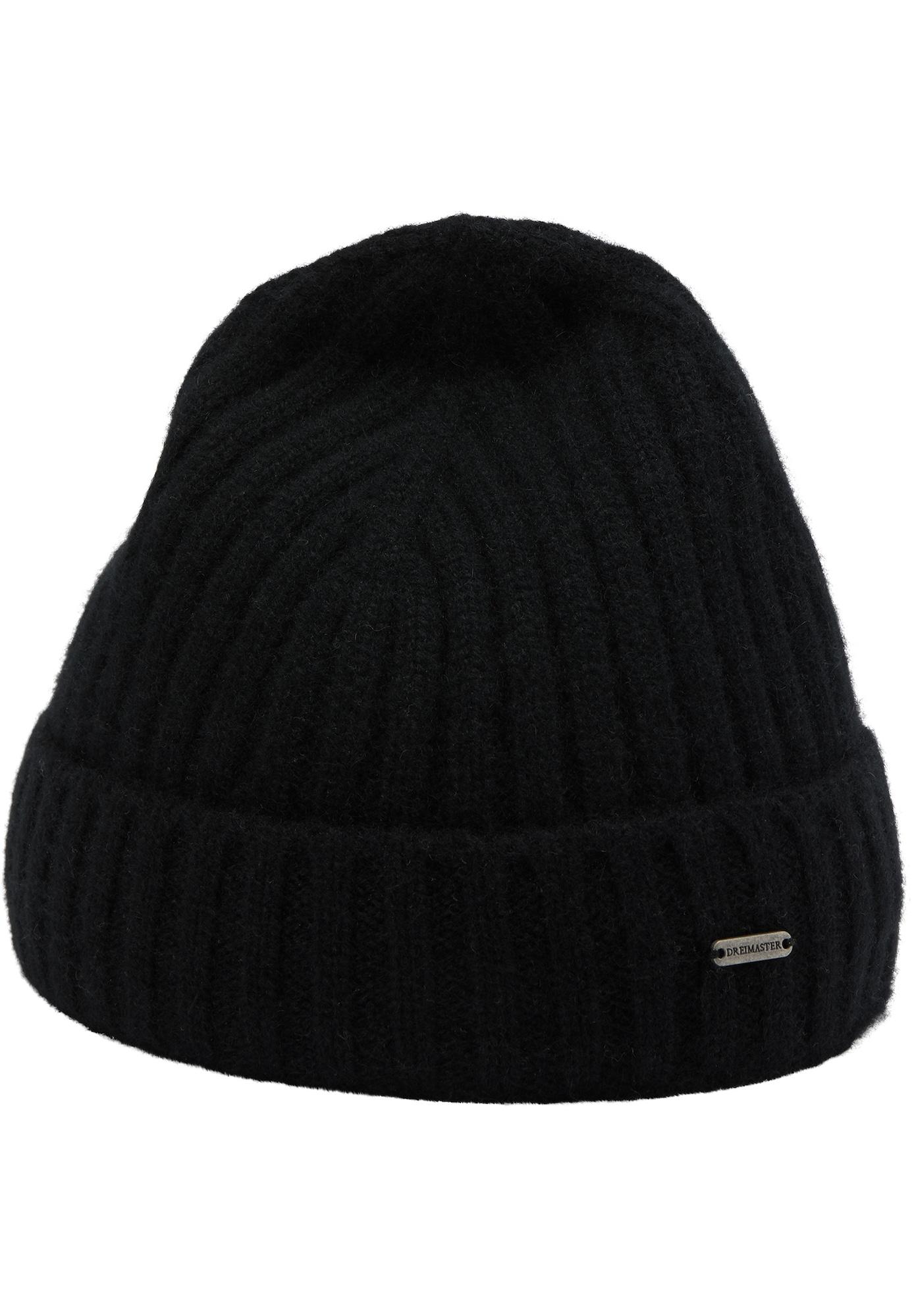 DreiMaster PREMIUM Megzta kepurė juoda