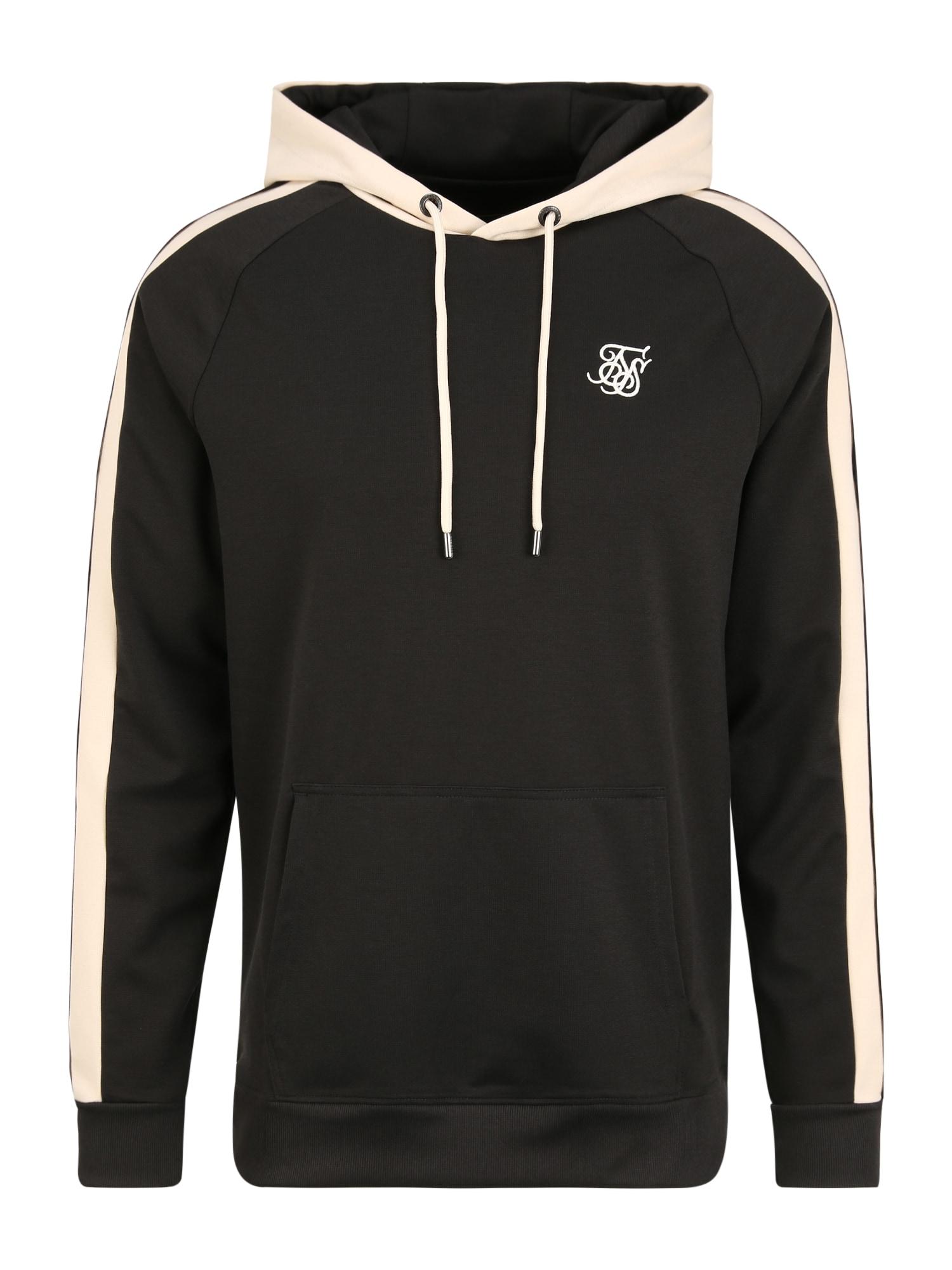 SikSilk Megztinis be užsegimo antracito / kremo / smėlio