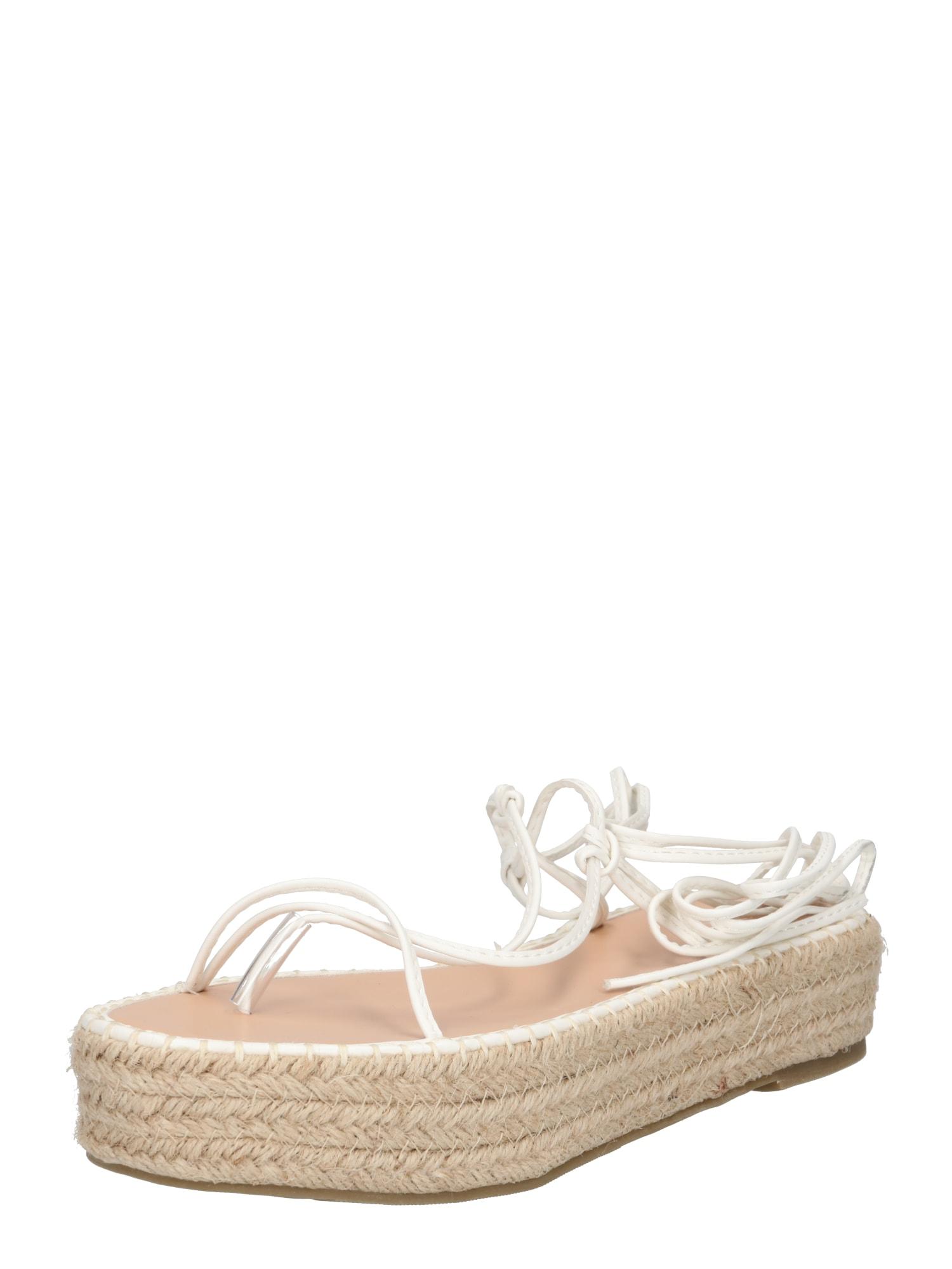 BEBO Sandály 'LARSEN'  přírodní bílá / béžová
