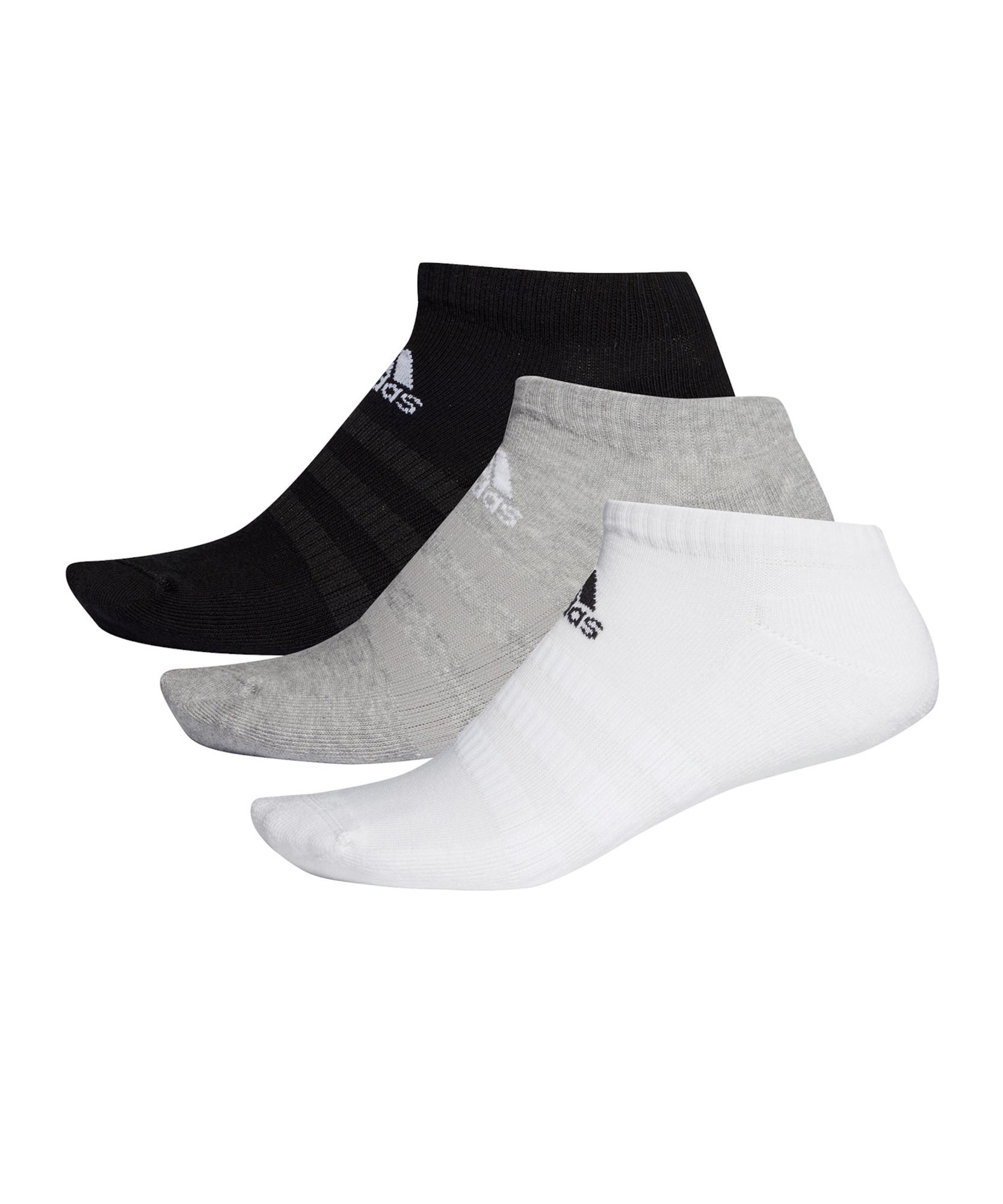 ADIDAS PERFORMANCE Sportinės kojinės juoda / balta / pilka