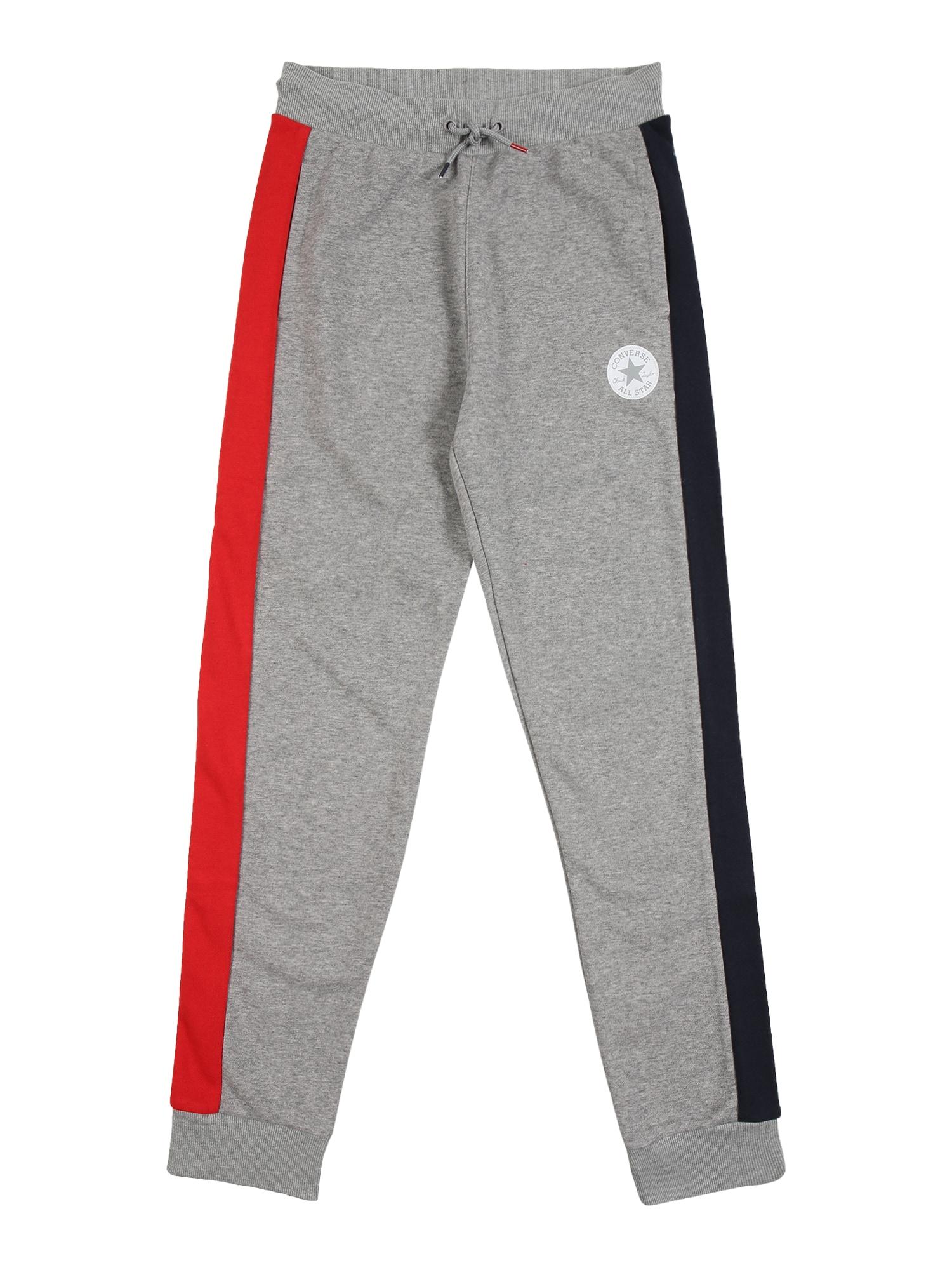 CONVERSE Kalhoty  tmavě šedá / červená / tmavě modrá