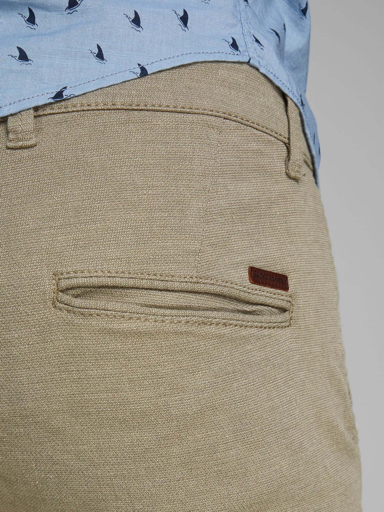 JACK & JONES Chino nohavice 'Marco Kenso'  svetlobéžová.