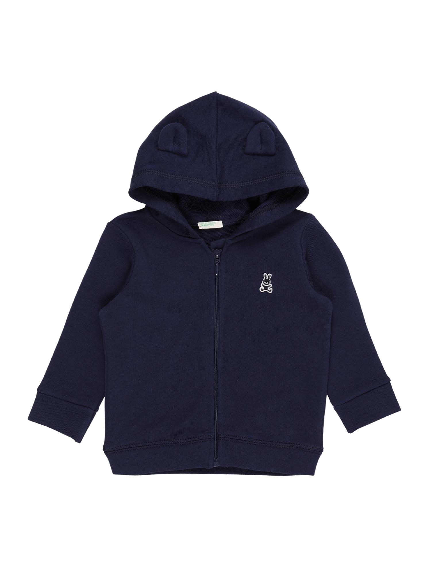 UNITED COLORS OF BENETTON Džemperis tamsiai mėlyna / šviesiai pilka