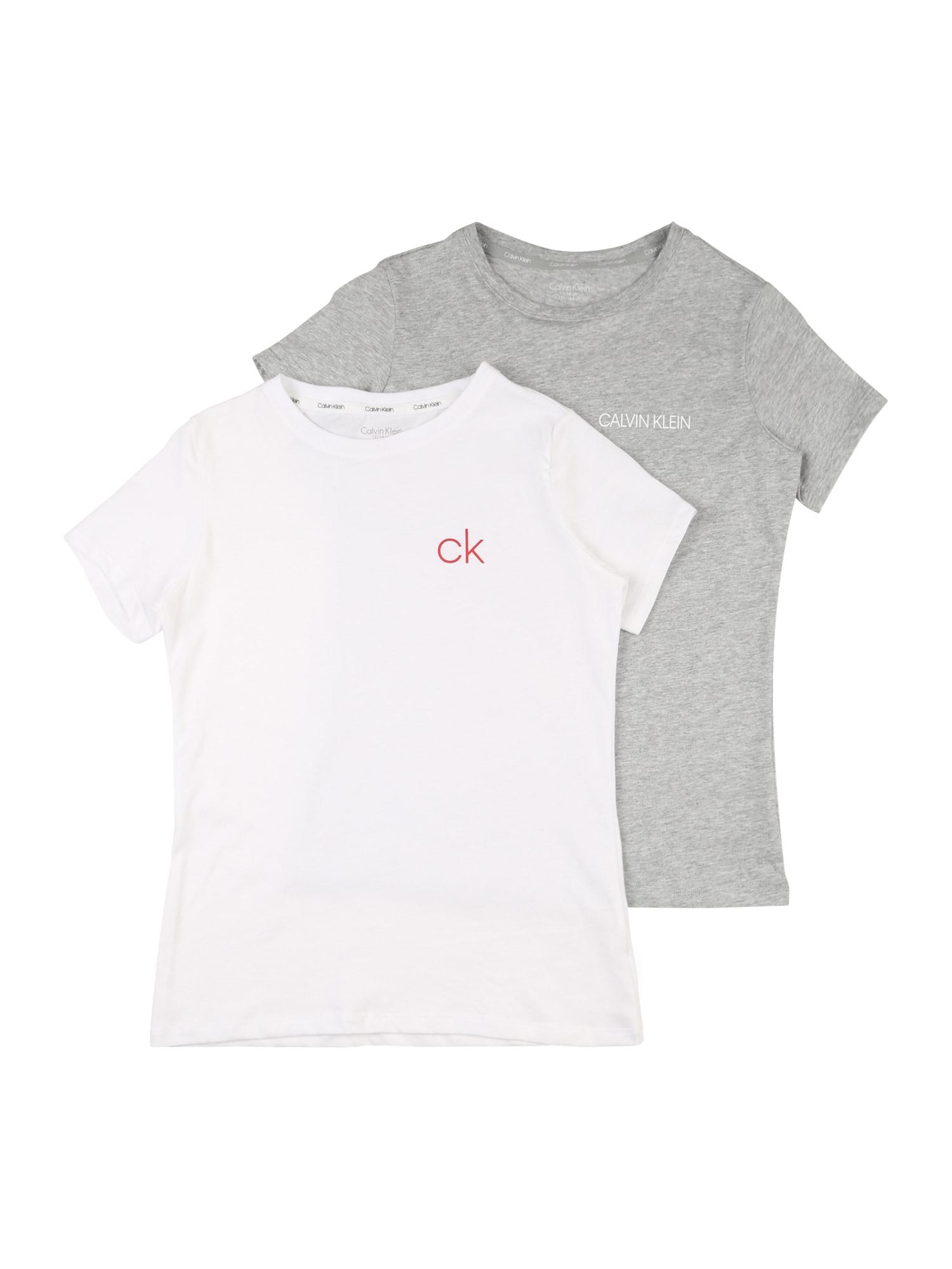 Calvin Klein Underwear Apatiniai marškinėliai balta / pilka / šviesiai rožinė