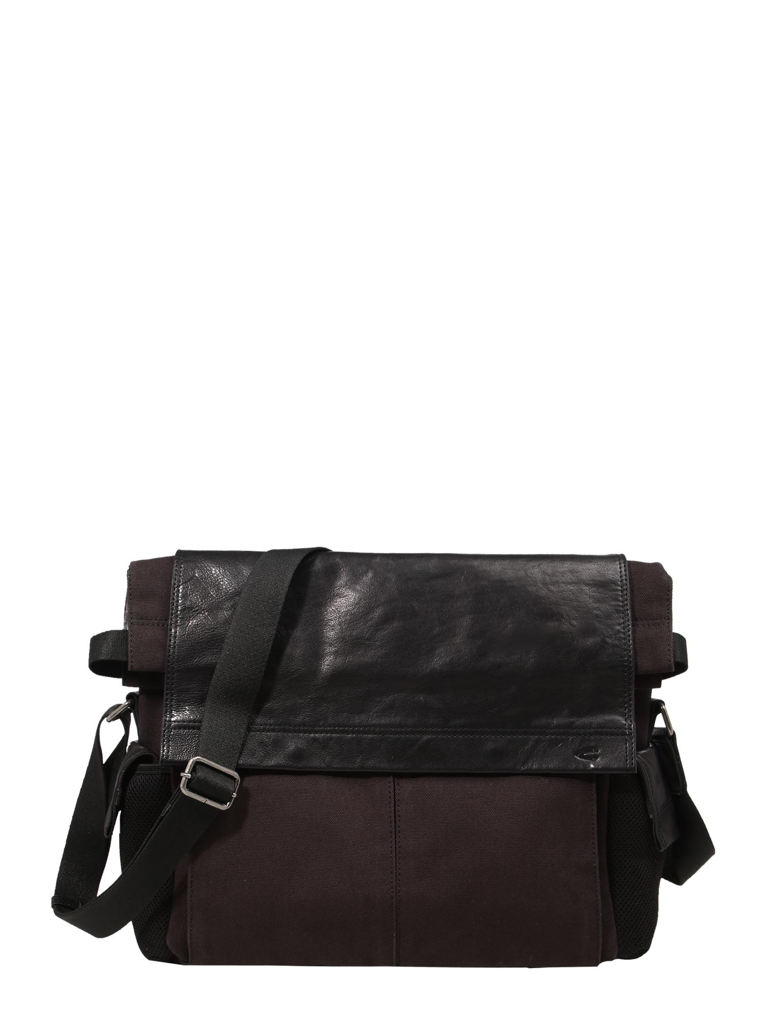 """CAMEL ACTIVE """"Messenger"""" stiliaus rankinė 'Napoli' juoda / tamsiai ruda"""