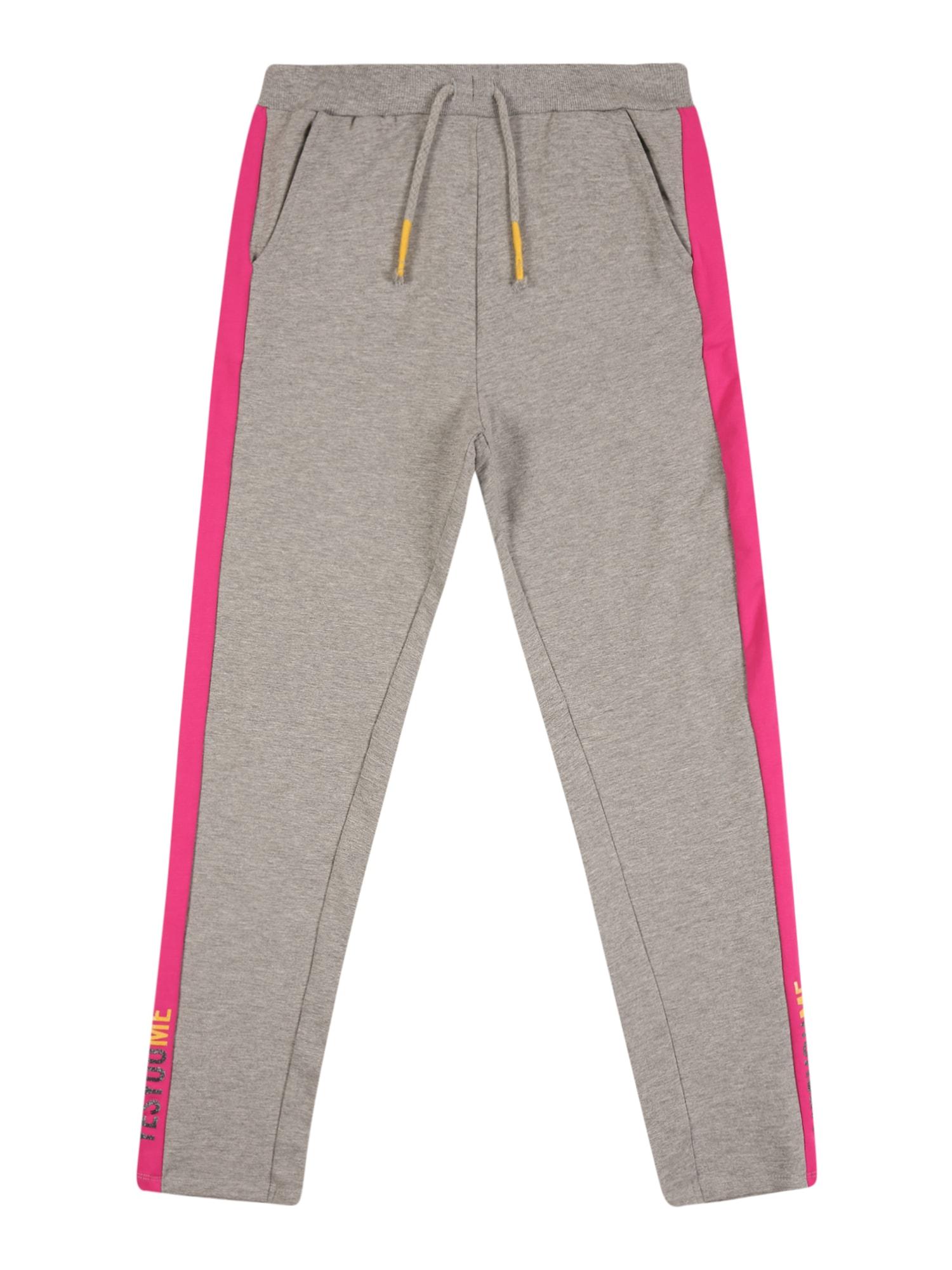 NAME IT Nohavice  sivá melírovaná / ružová