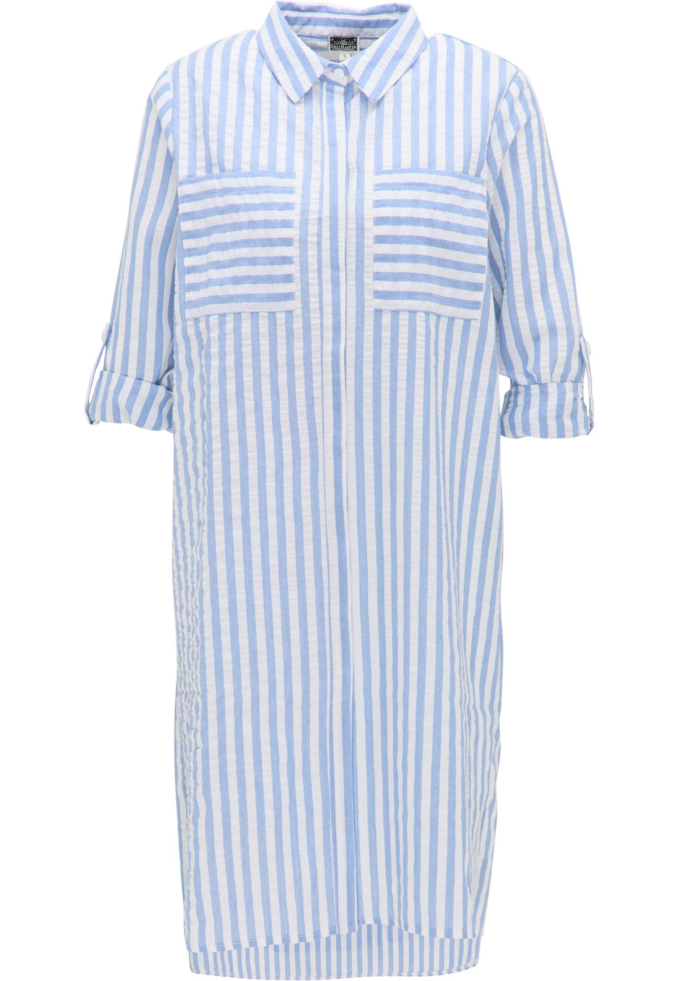 DreiMaster Maritim Palaidinės tipo suknelė balta / šviesiai mėlyna