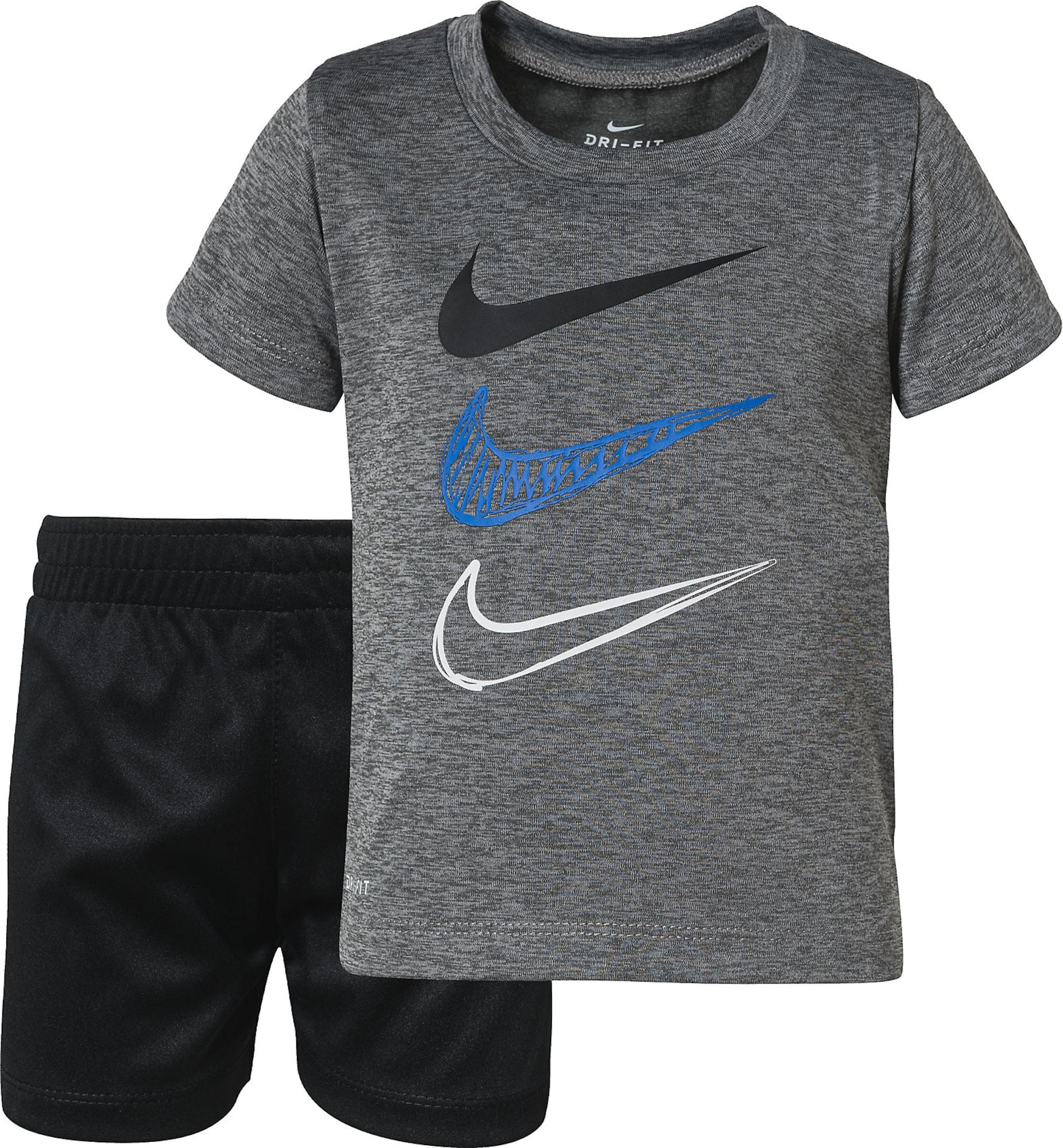 NIKE Sportinis kostiumas juoda / pilka