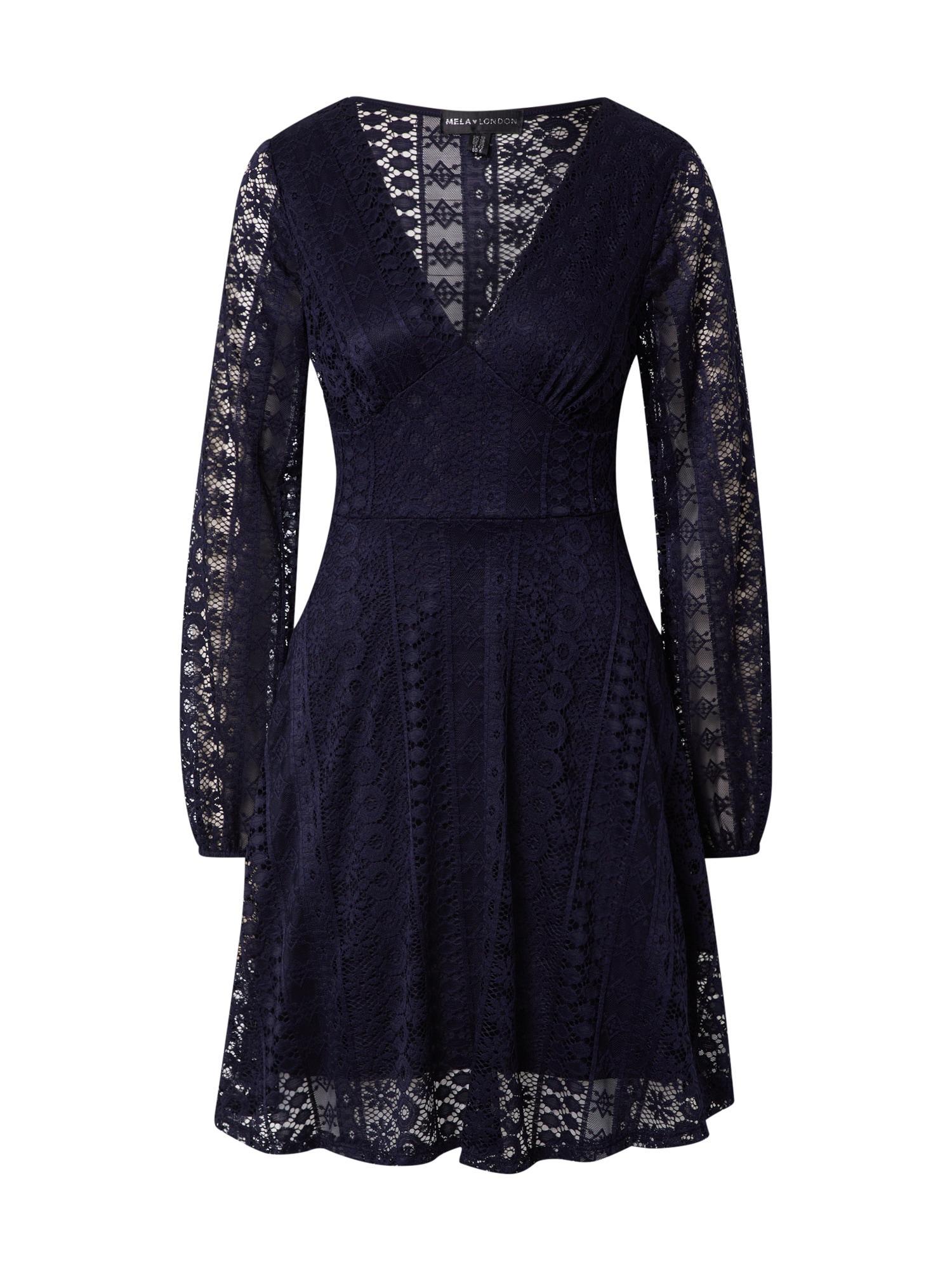 Mela London Kokteilinė suknelė tamsiai mėlyna