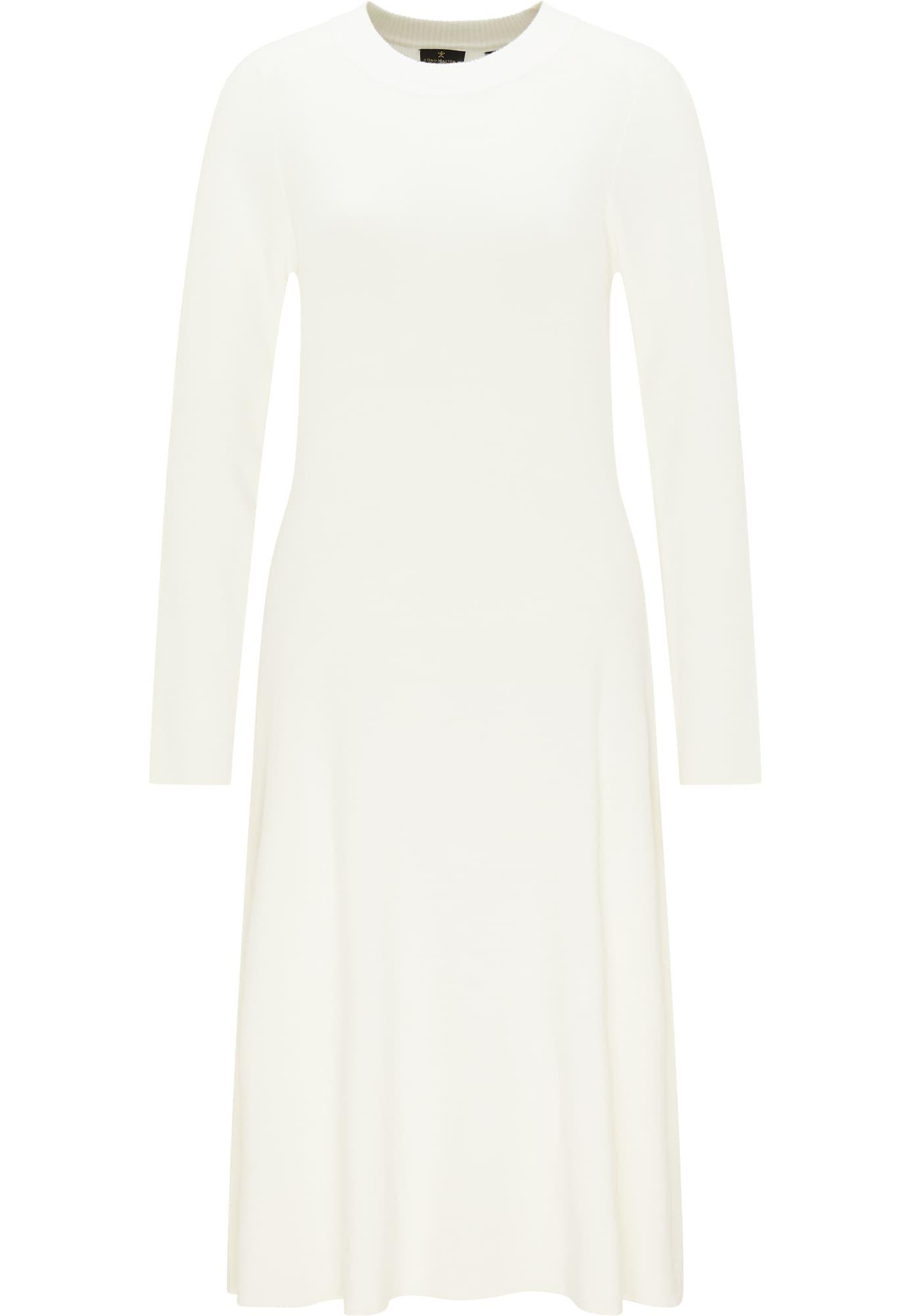 DreiMaster Klassik Megzta suknelė balta