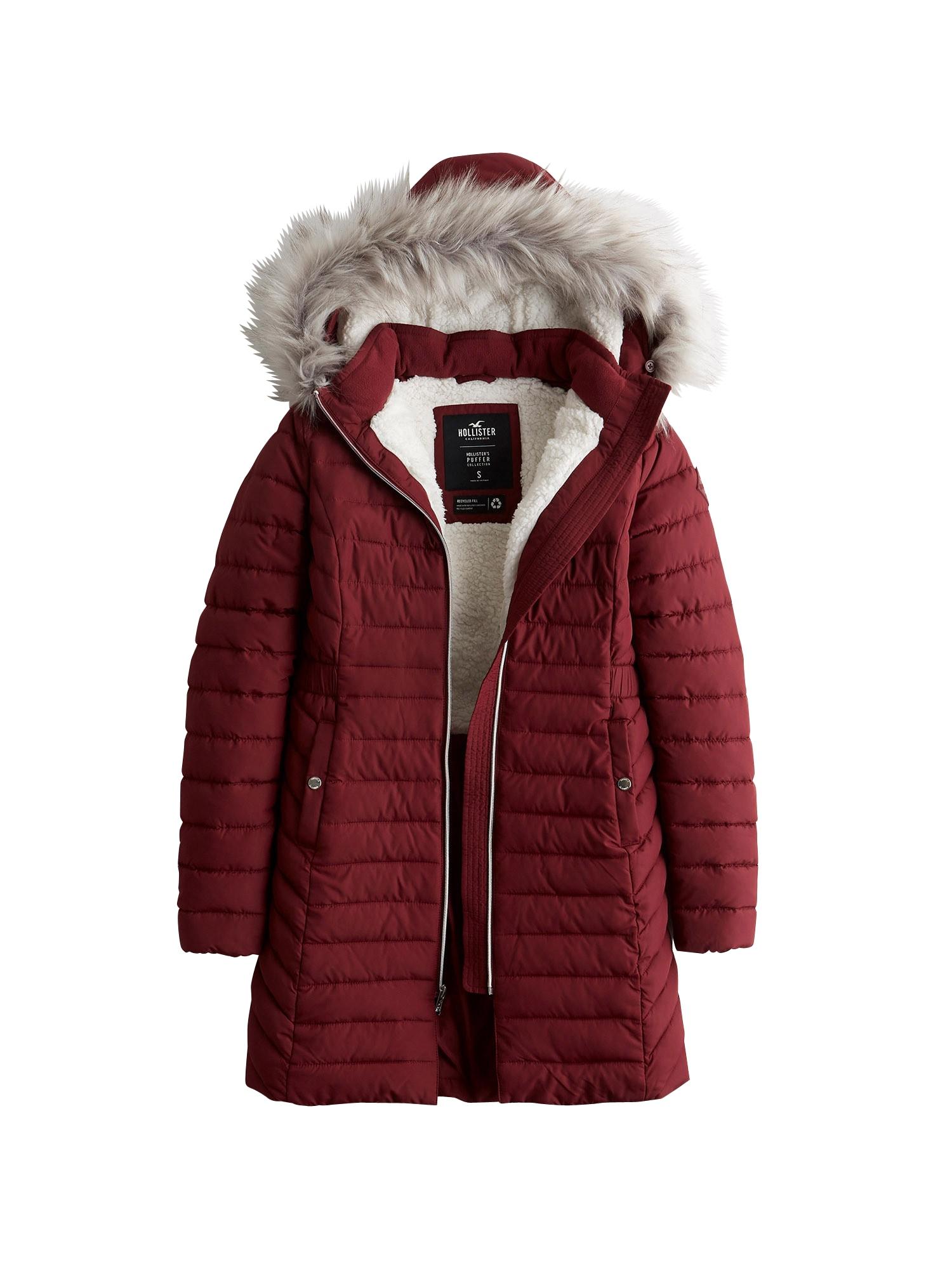 HOLLISTER Žieminis paltas raudona
