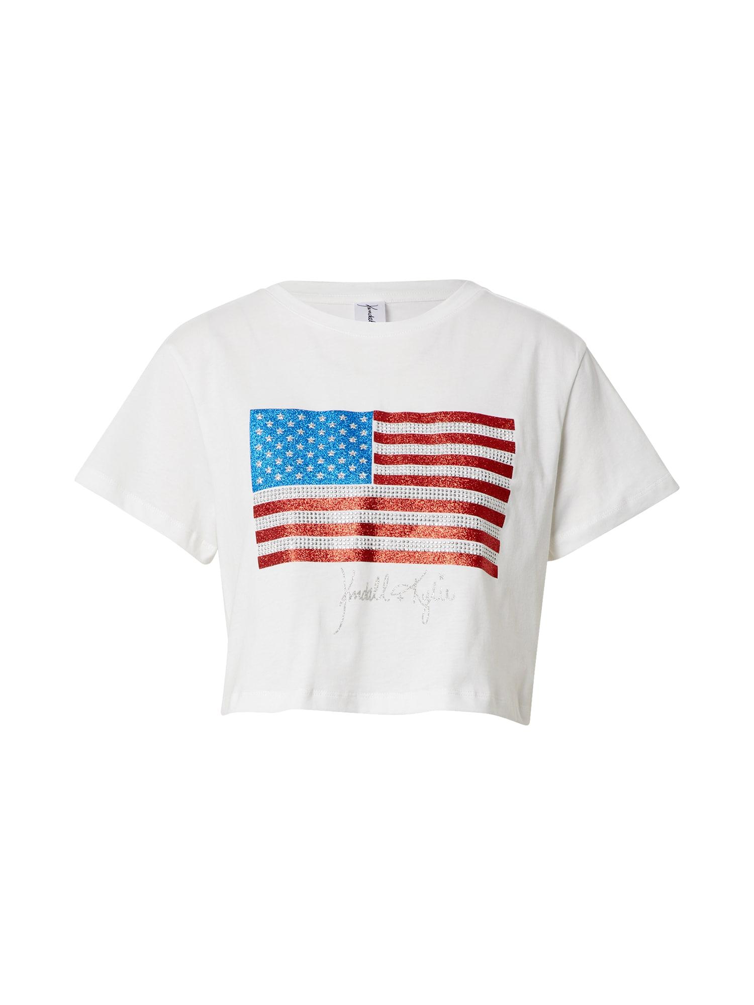 KENDALL + KYLIE Marškinėliai balkšva / mišrios spalvos