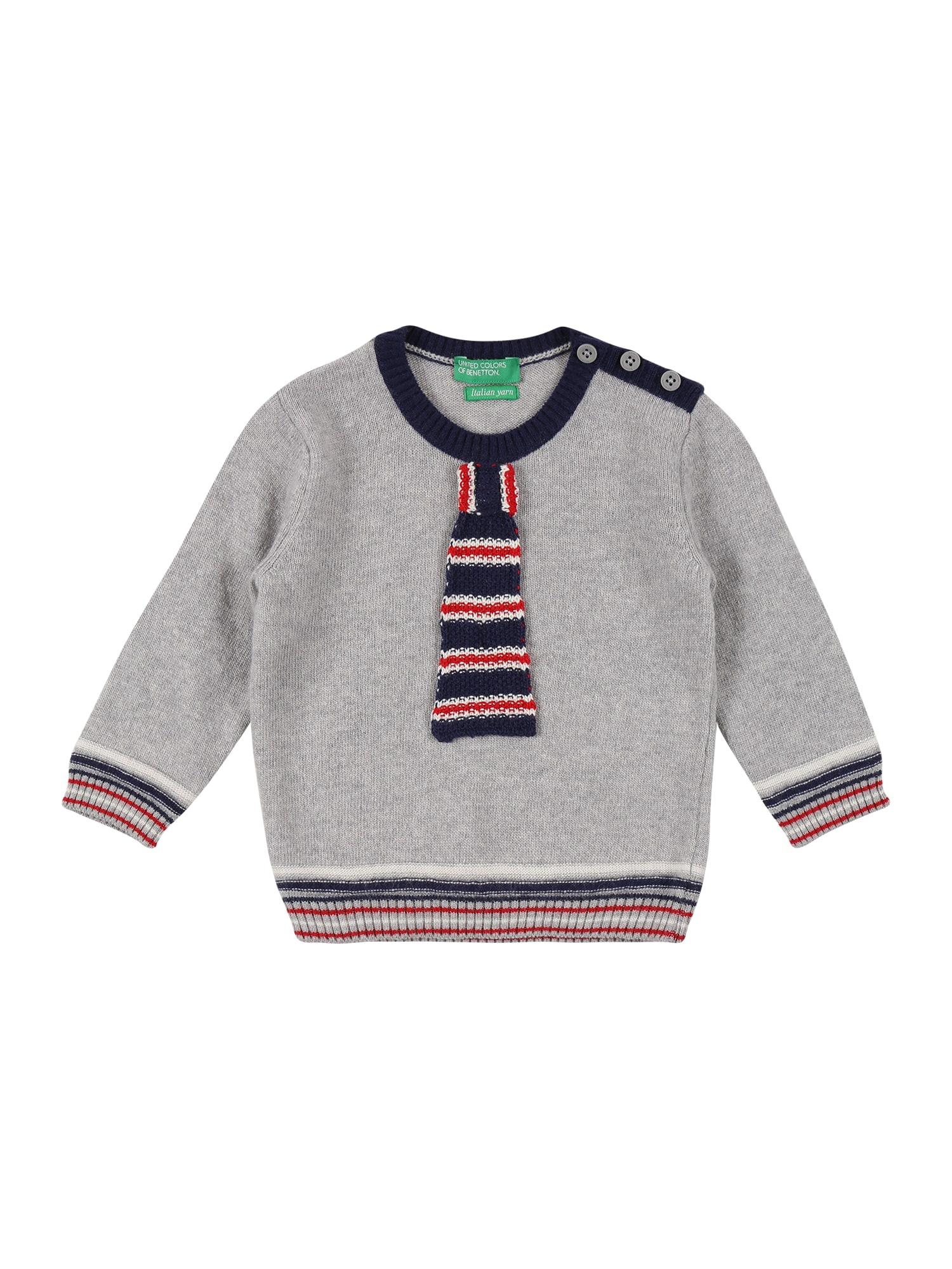 UNITED COLORS OF BENETTON Megztinis mišrios spalvos / margai pilka