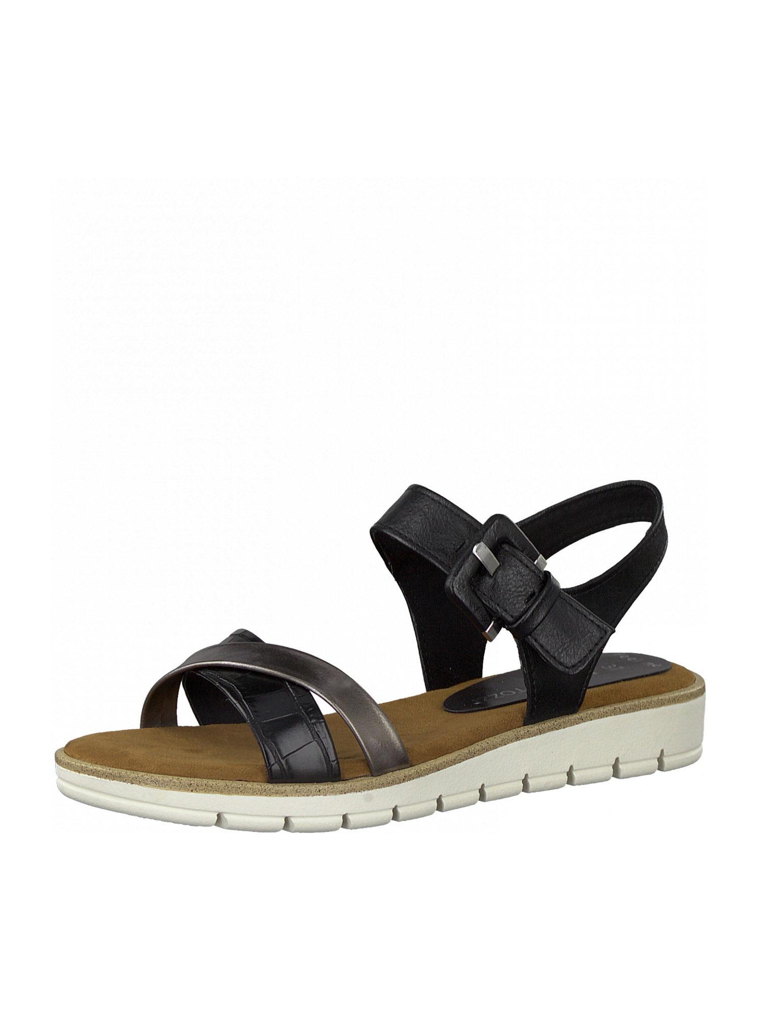 MARCO TOZZI Sandalai juoda / purvo spalva
