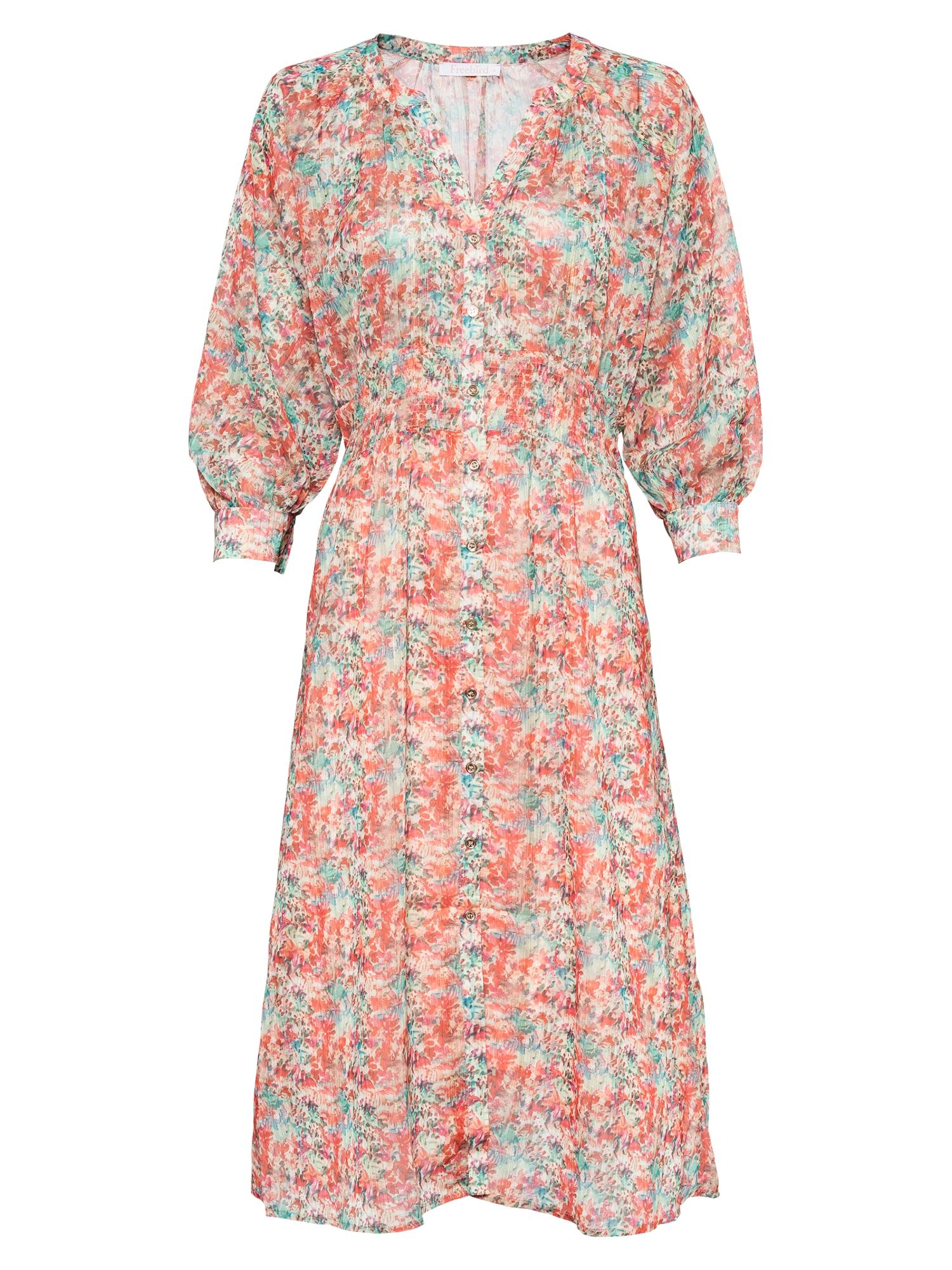 Freebird Palaidinės tipo suknelė turkio spalva / oranžinė-raudona / natūrali balta / rožinė / nefrito spalva