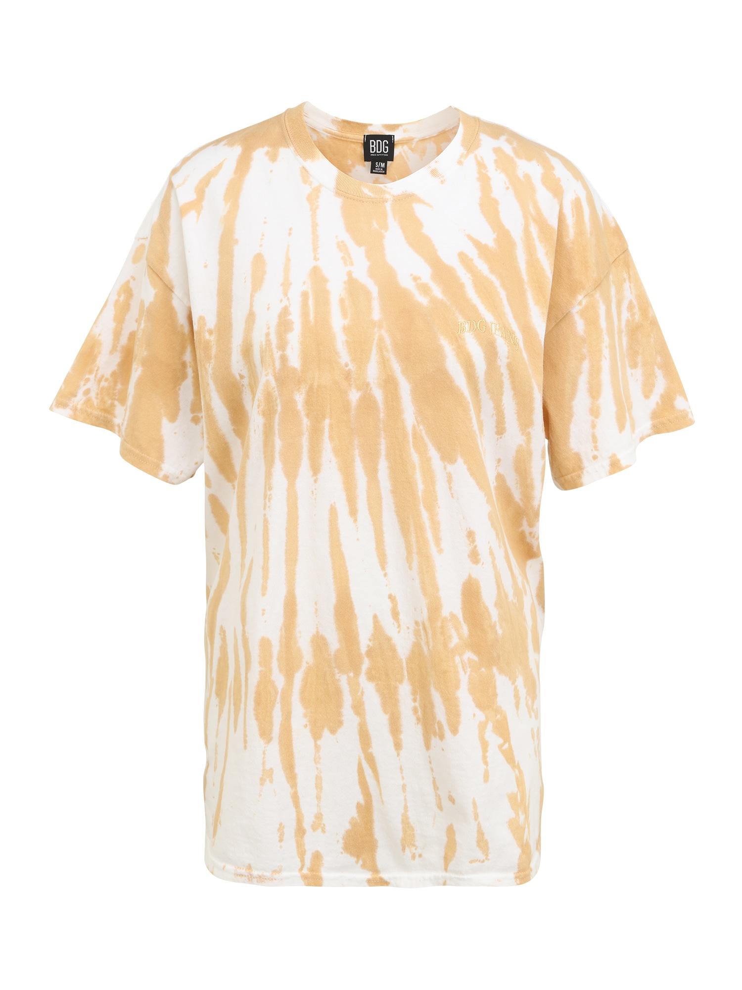 BDG Urban Outfitters Marškinėliai balta / oranžinė
