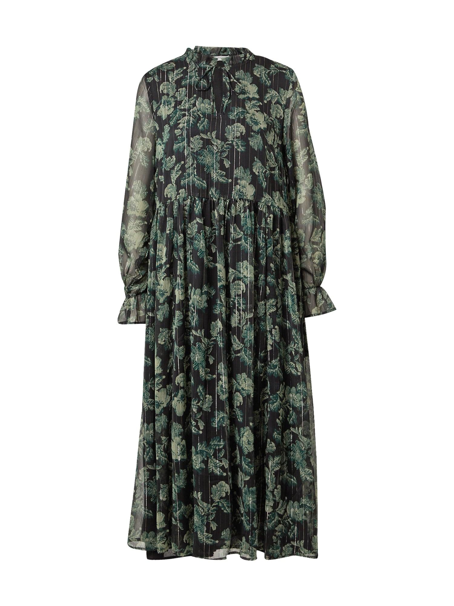 b.young Suknelė juoda / žalia / sidabrinė