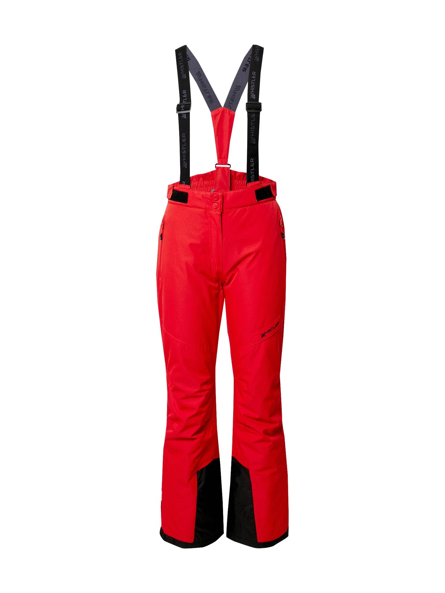 Whistler Sportinės kelnės raudona / juoda