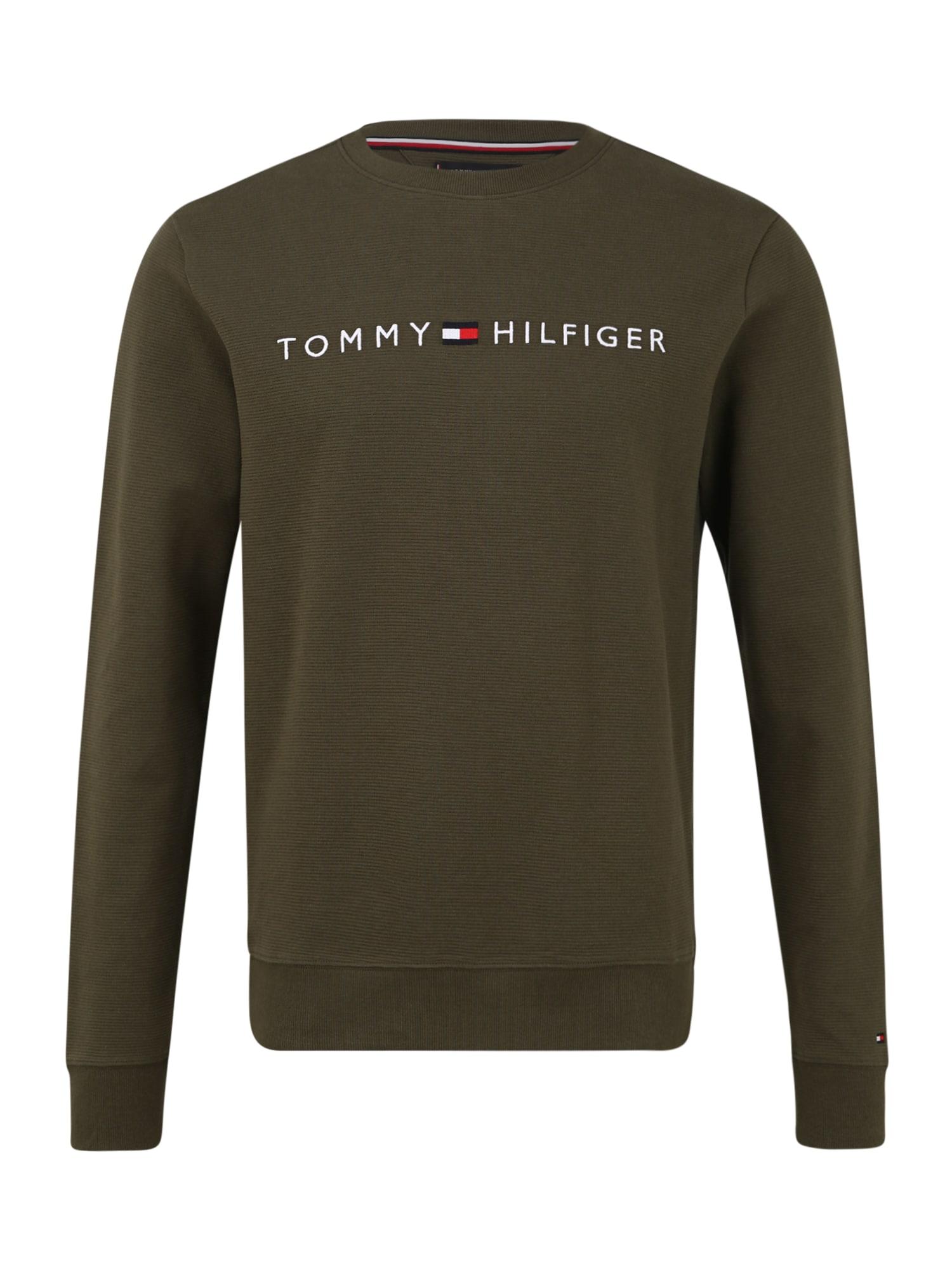 Tommy Hilfiger Underwear Mikina  olivová / bílá