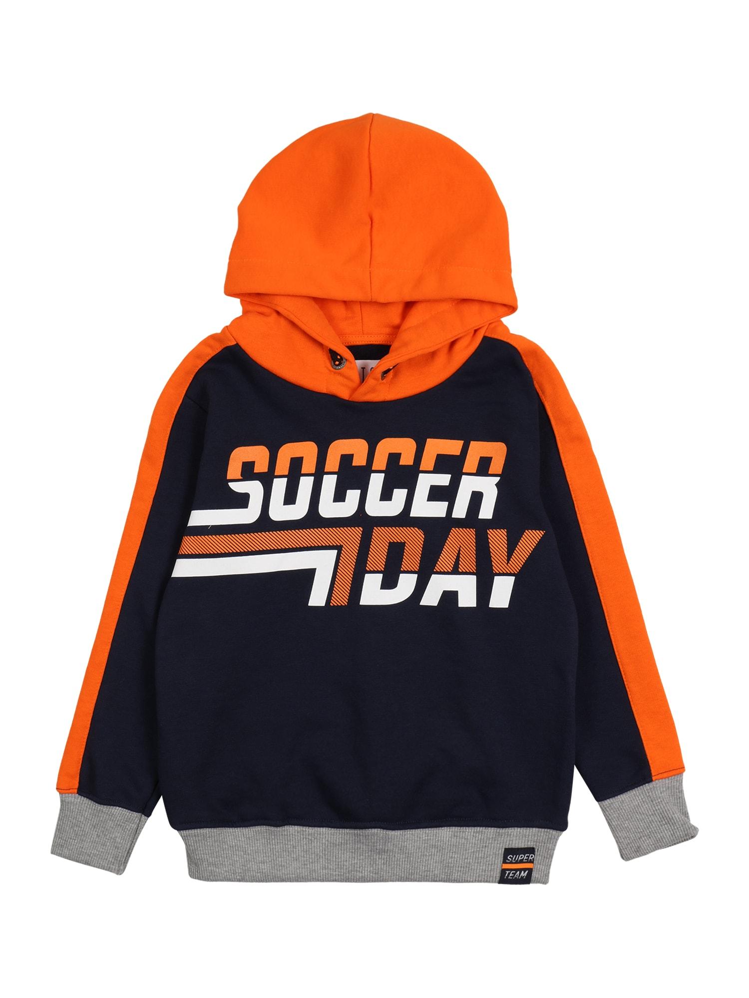 STACCATO Megztinis be užsegimo tamsiai mėlyna jūros spalva / tamsiai oranžinė / pilka / balta