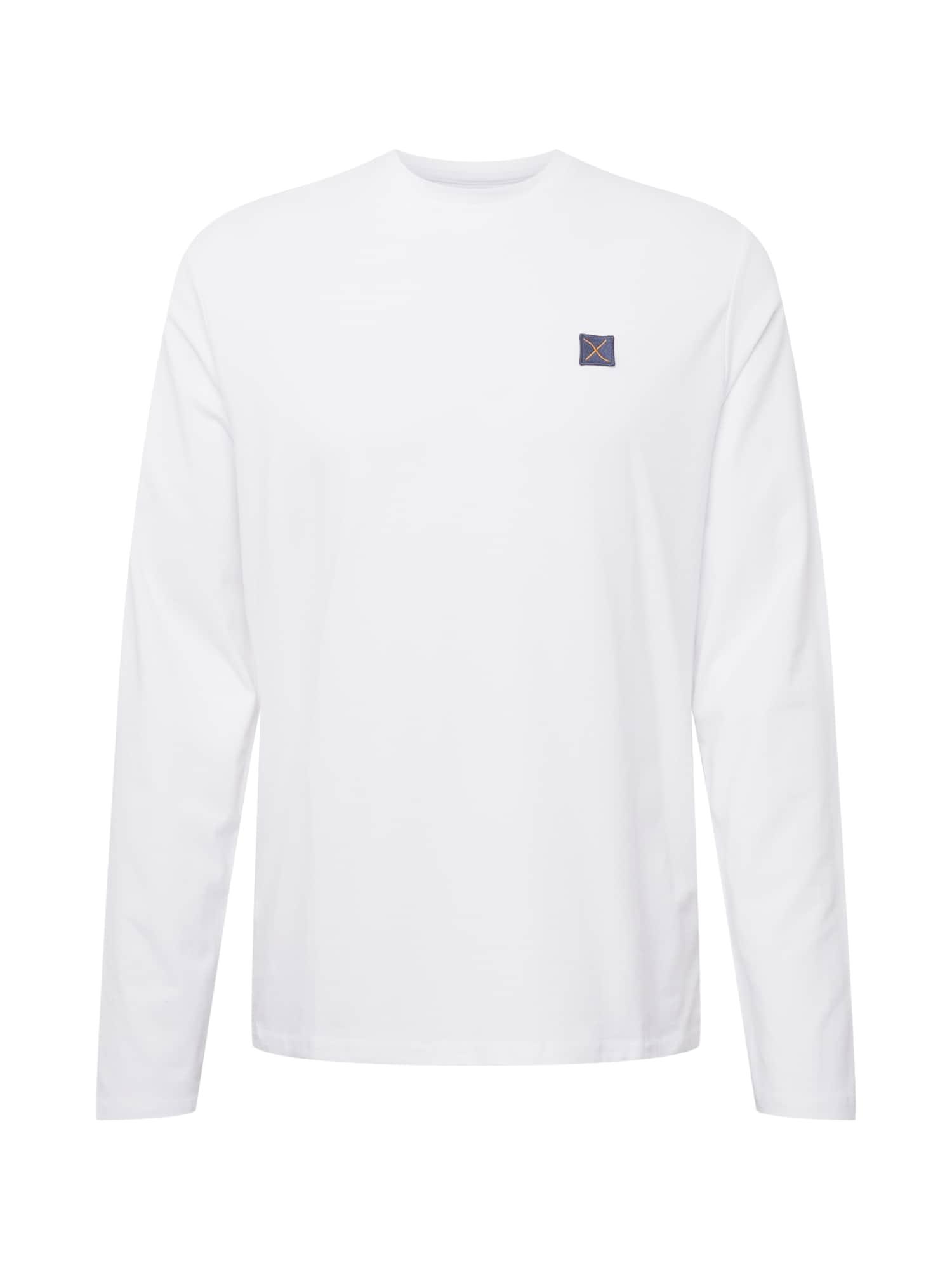 Clean Cut Copenhagen Marškinėliai balta / tamsiai mėlyna jūros spalva / garstyčių spalva