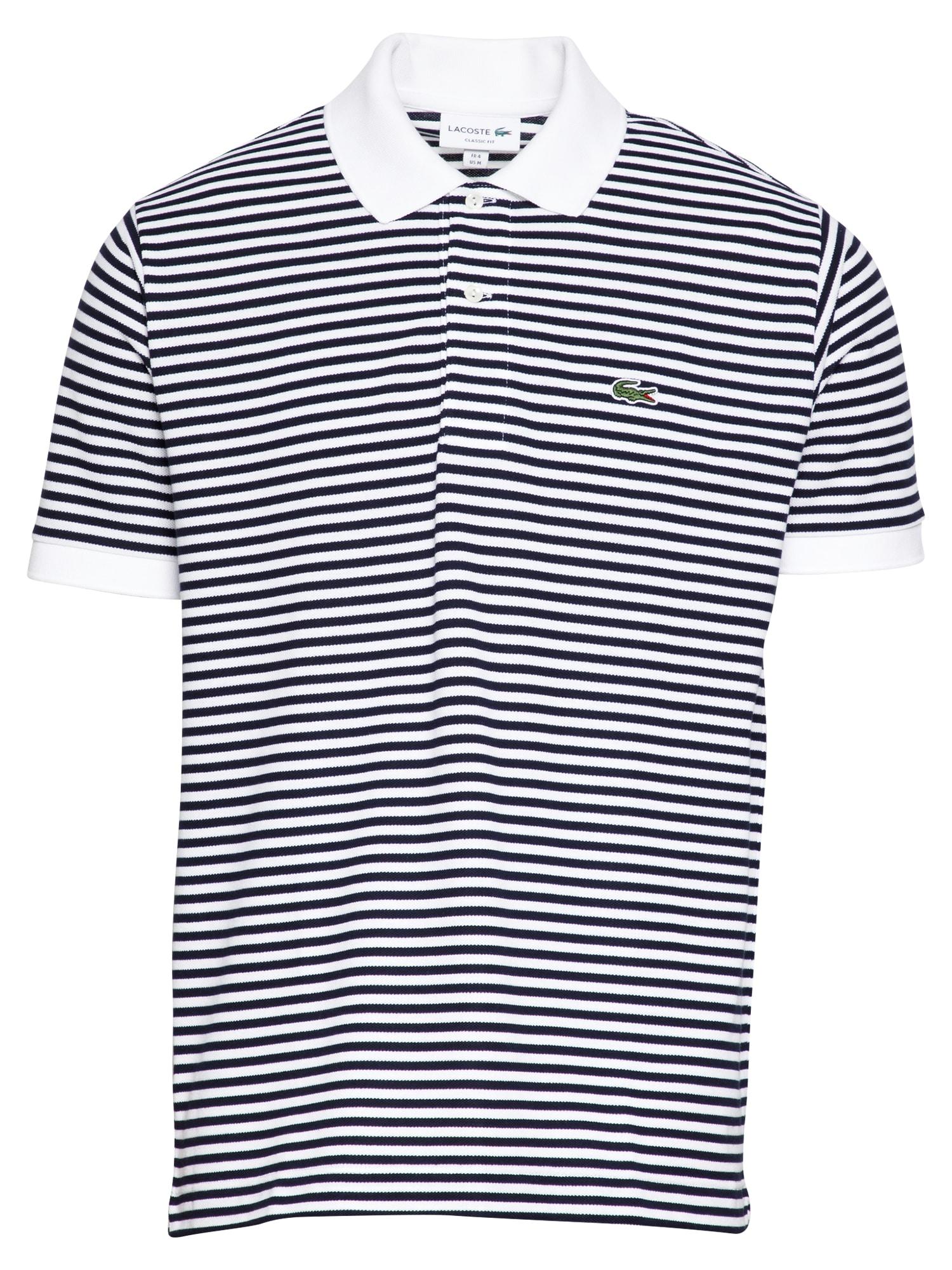 LACOSTE Marškinėliai balta / tamsiai mėlyna