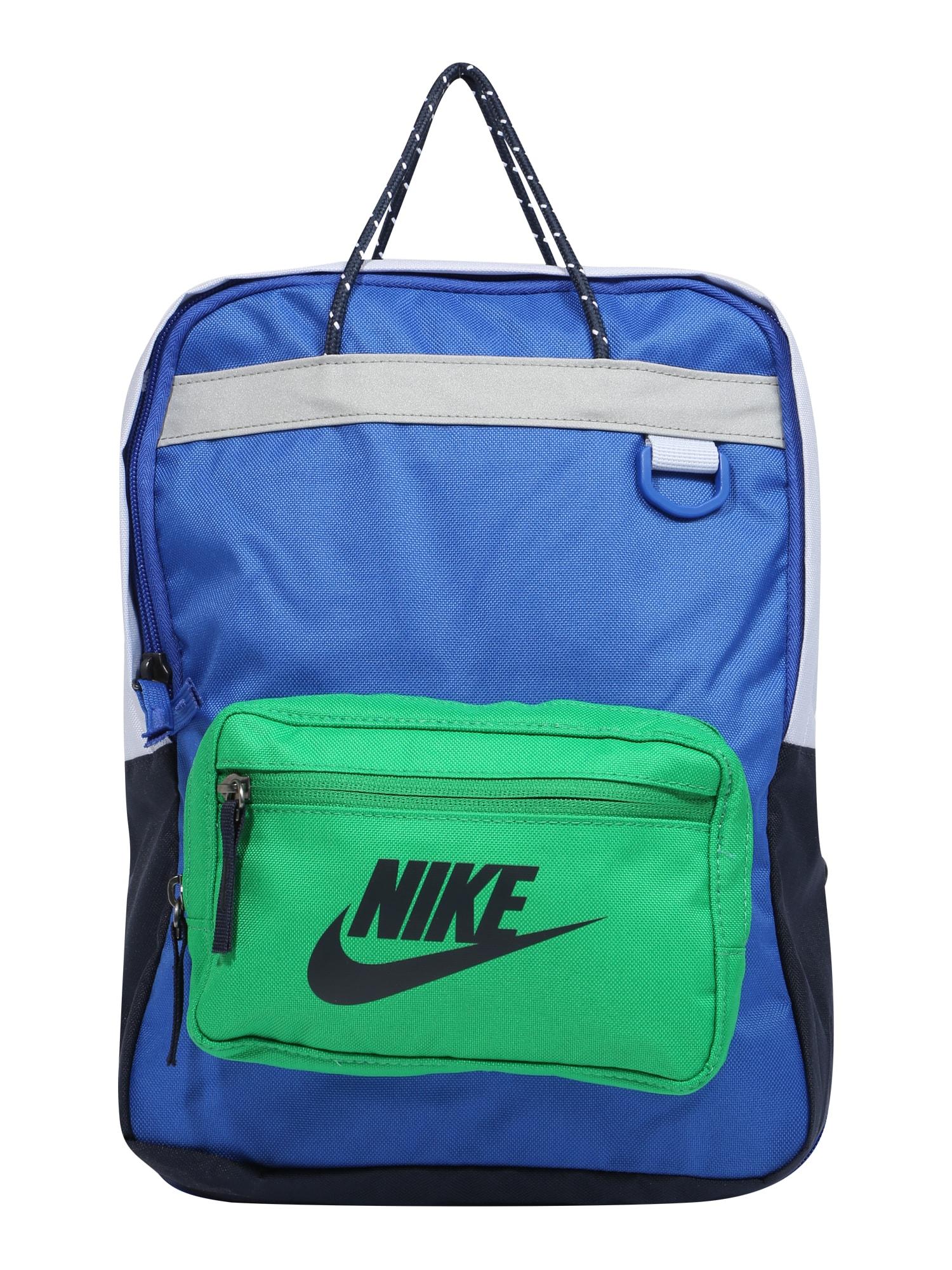 Nike Sportswear Batoh 'Tanjun'  zelená / královská modrá / černá / bílá