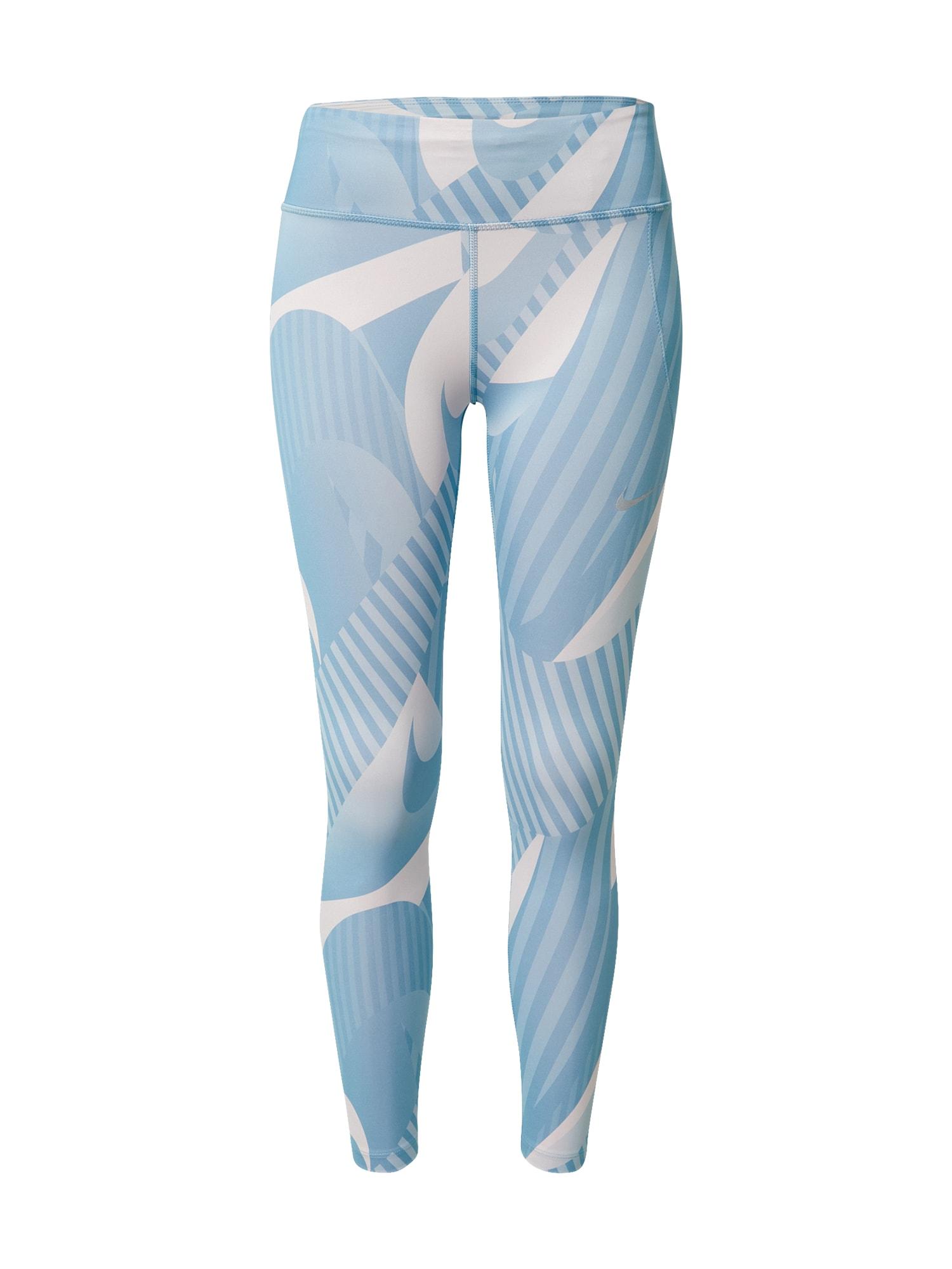 NIKE Sportovní kalhoty 'Fast'  šedá / modrá