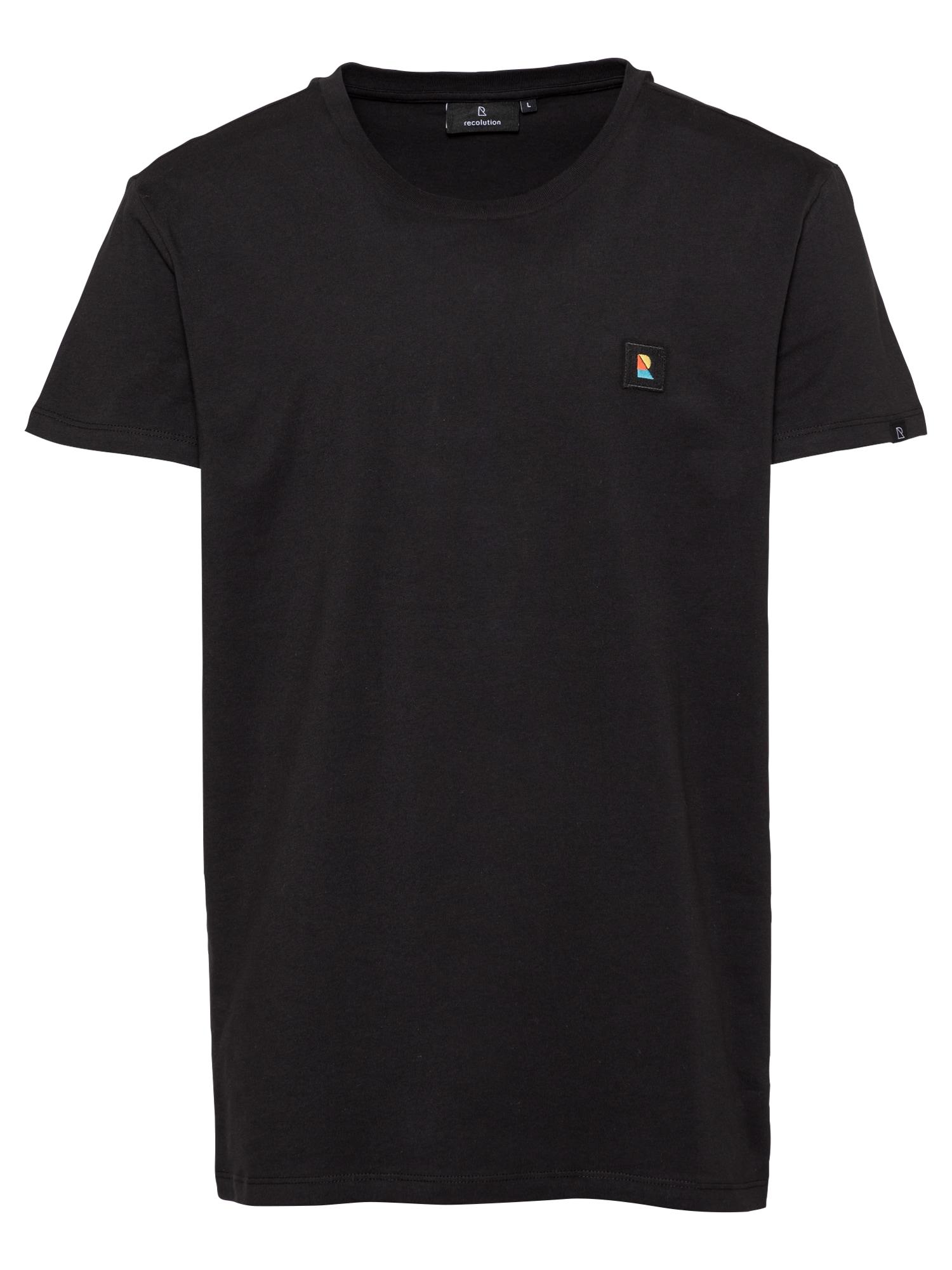 recolution Marškinėliai juoda