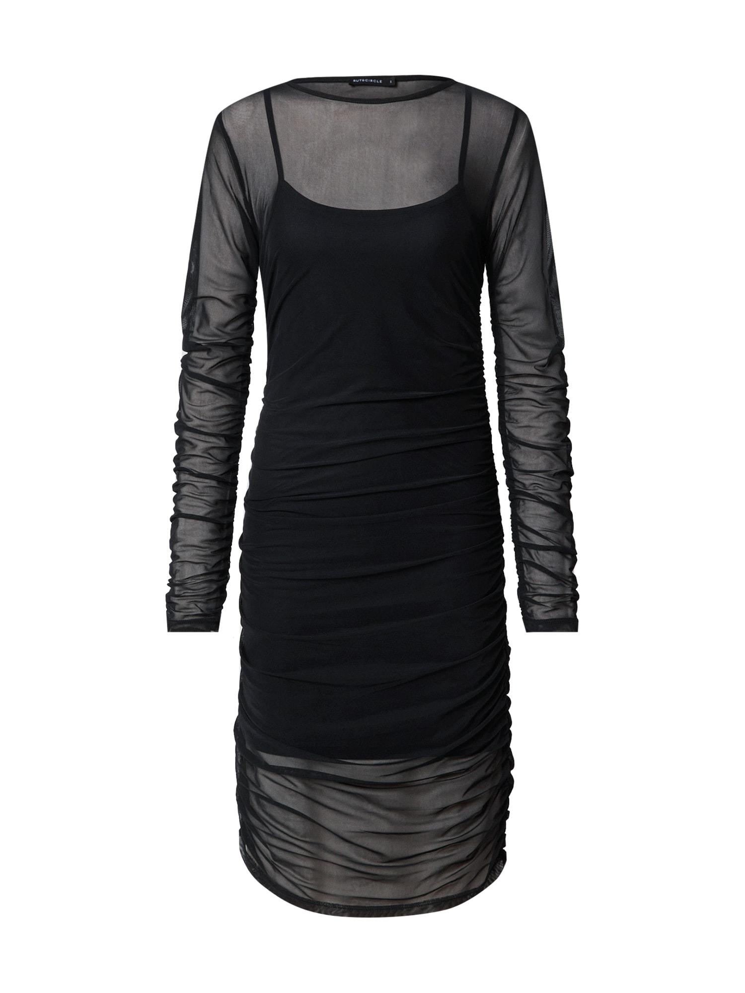 Rut & Circle Koktejlové šaty 'OFELIA'  černá