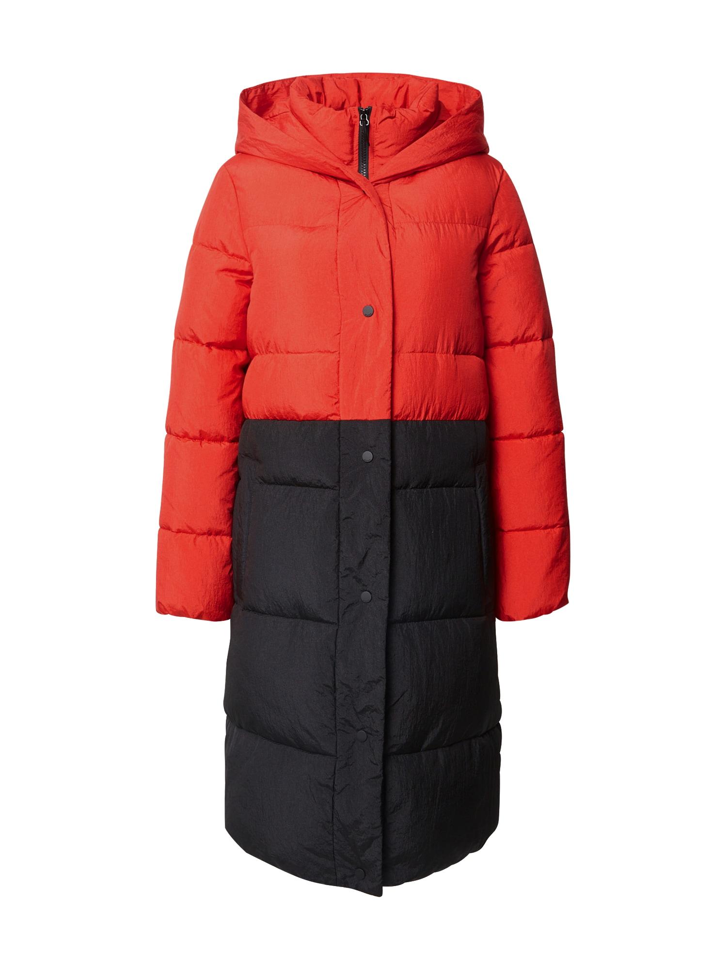 HUGO Rudeninis-žieminis paltas 'Fesalia-1' raudona / juoda
